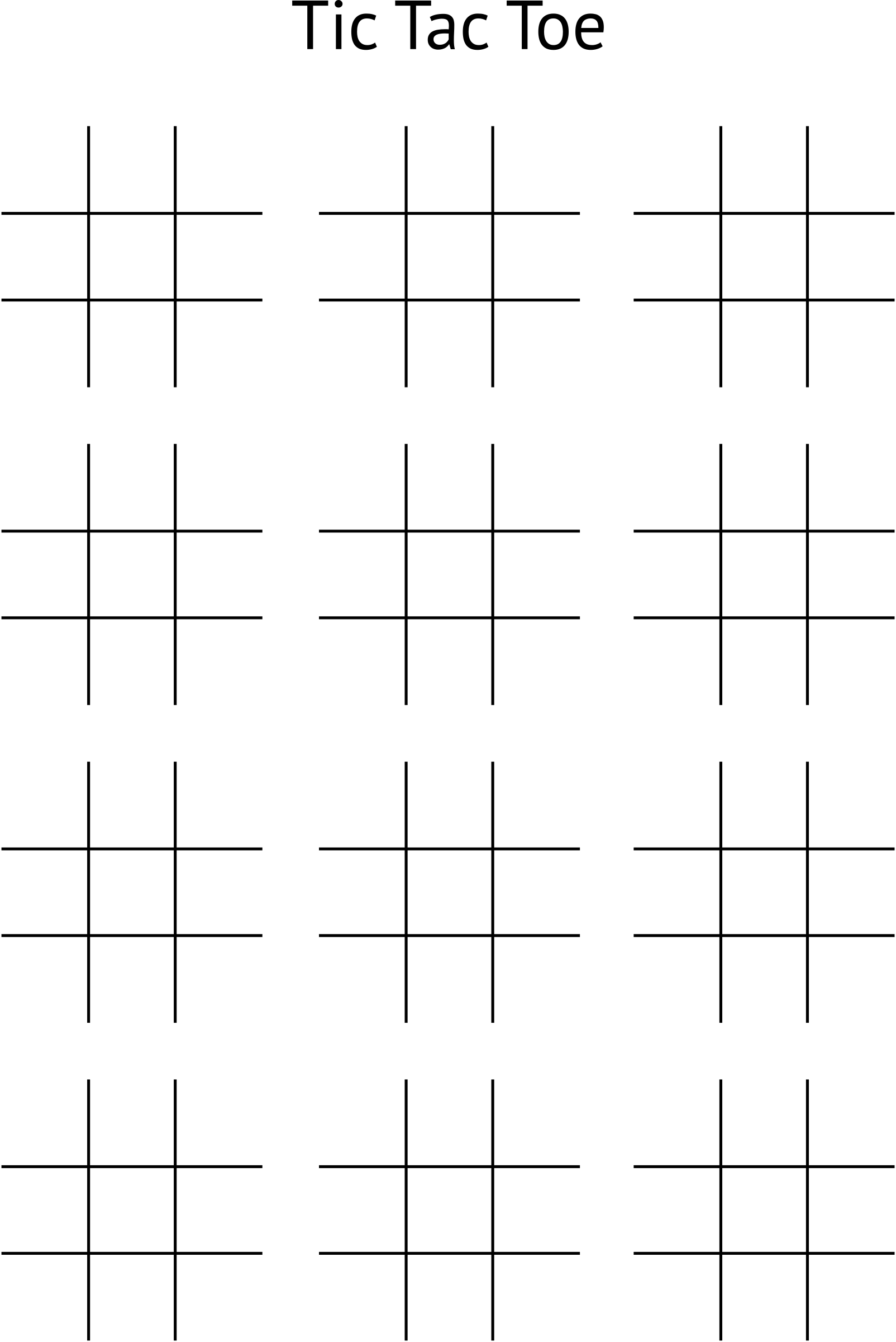Tic Tac Toe Board by wallpapergirl