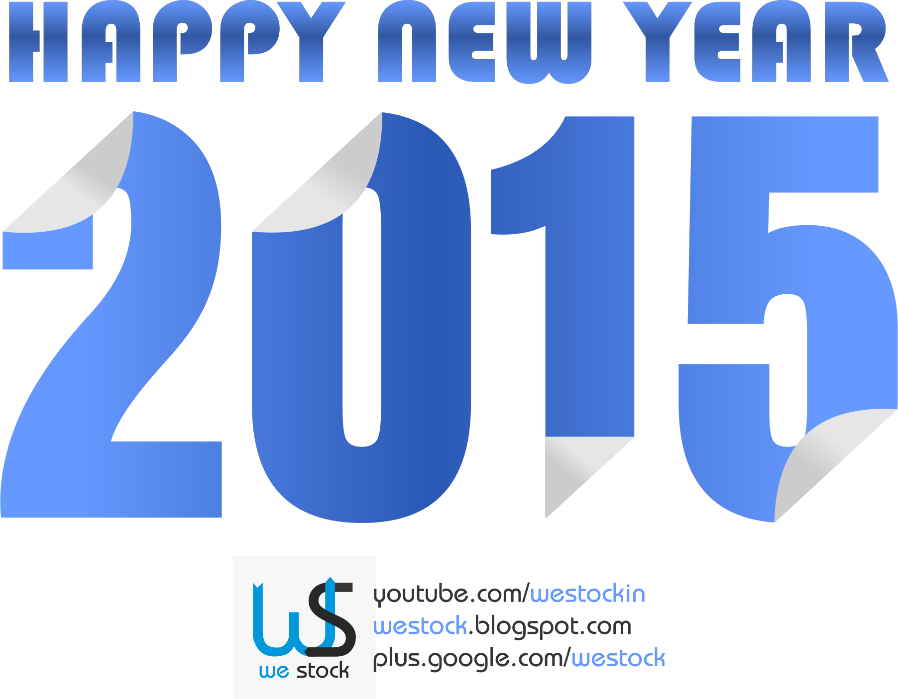 New Year 2015 blue colored sticky style. by westock