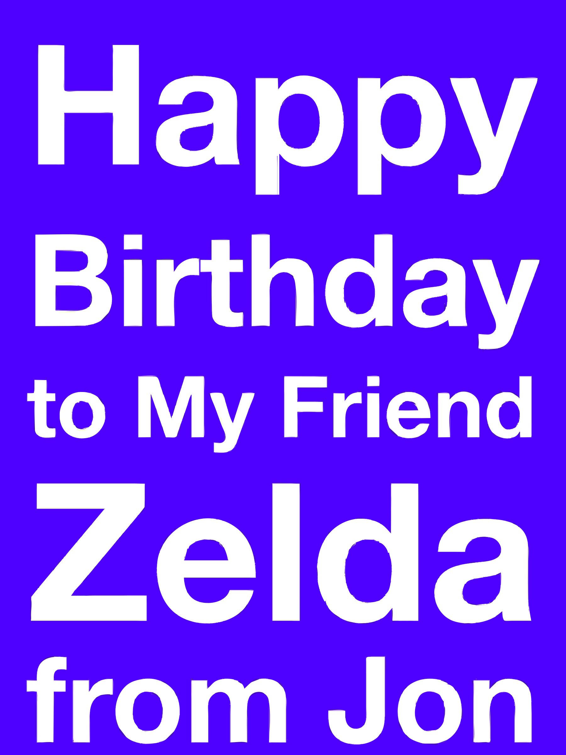 Happy Birthday Zelda by rejon