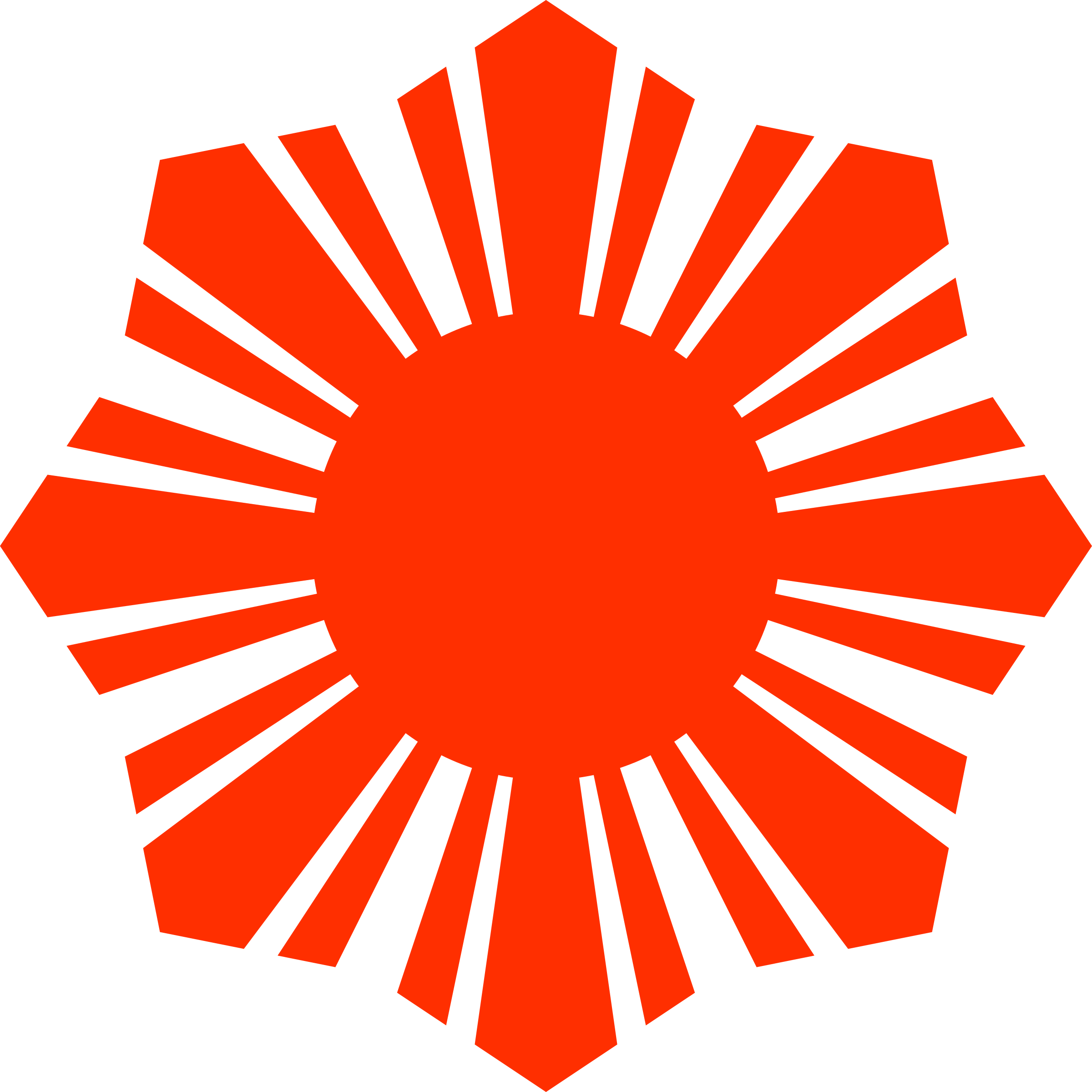 Sun Symbol Red by qubodup