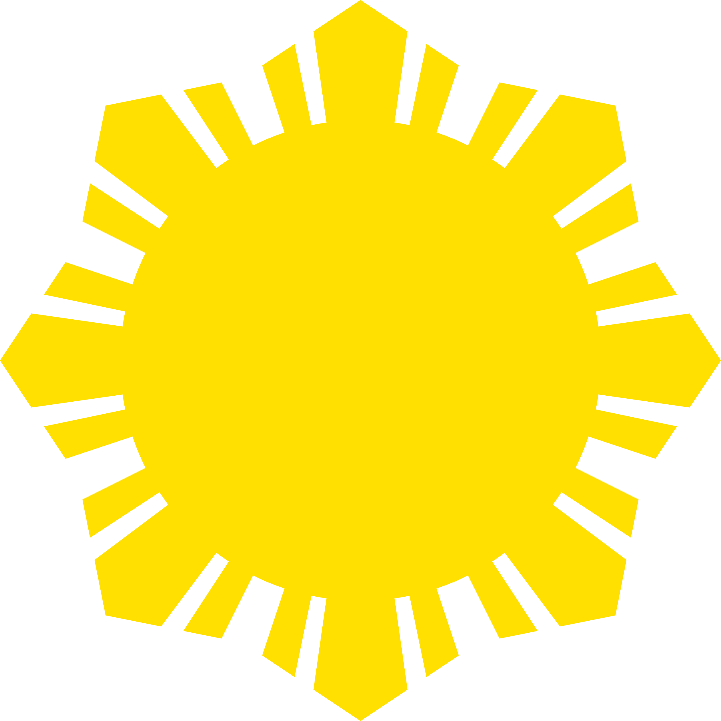 Sun Symbol Small Yellow by qubodup