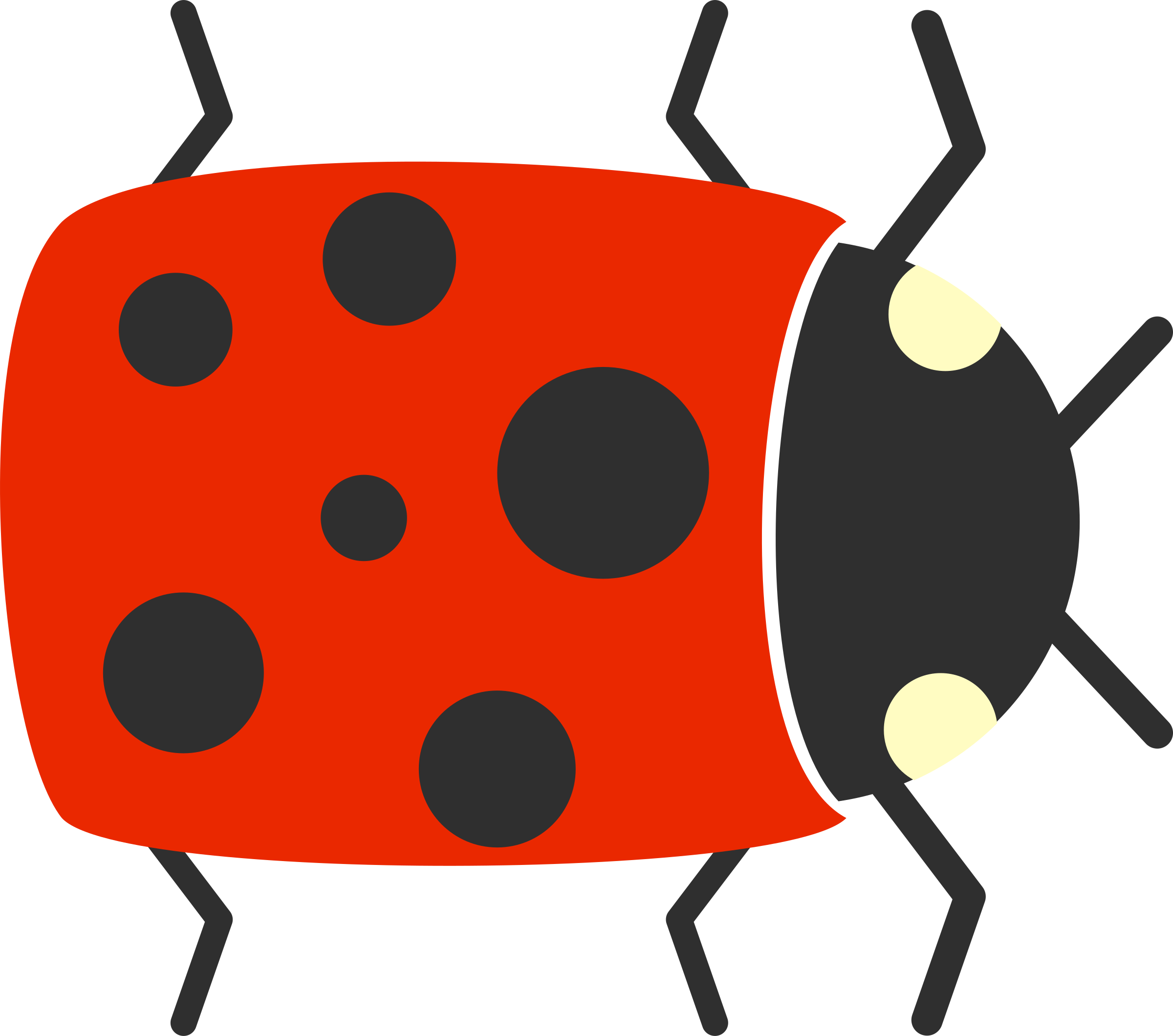 simple cartoon ladybug - Simple Cartoon Pics