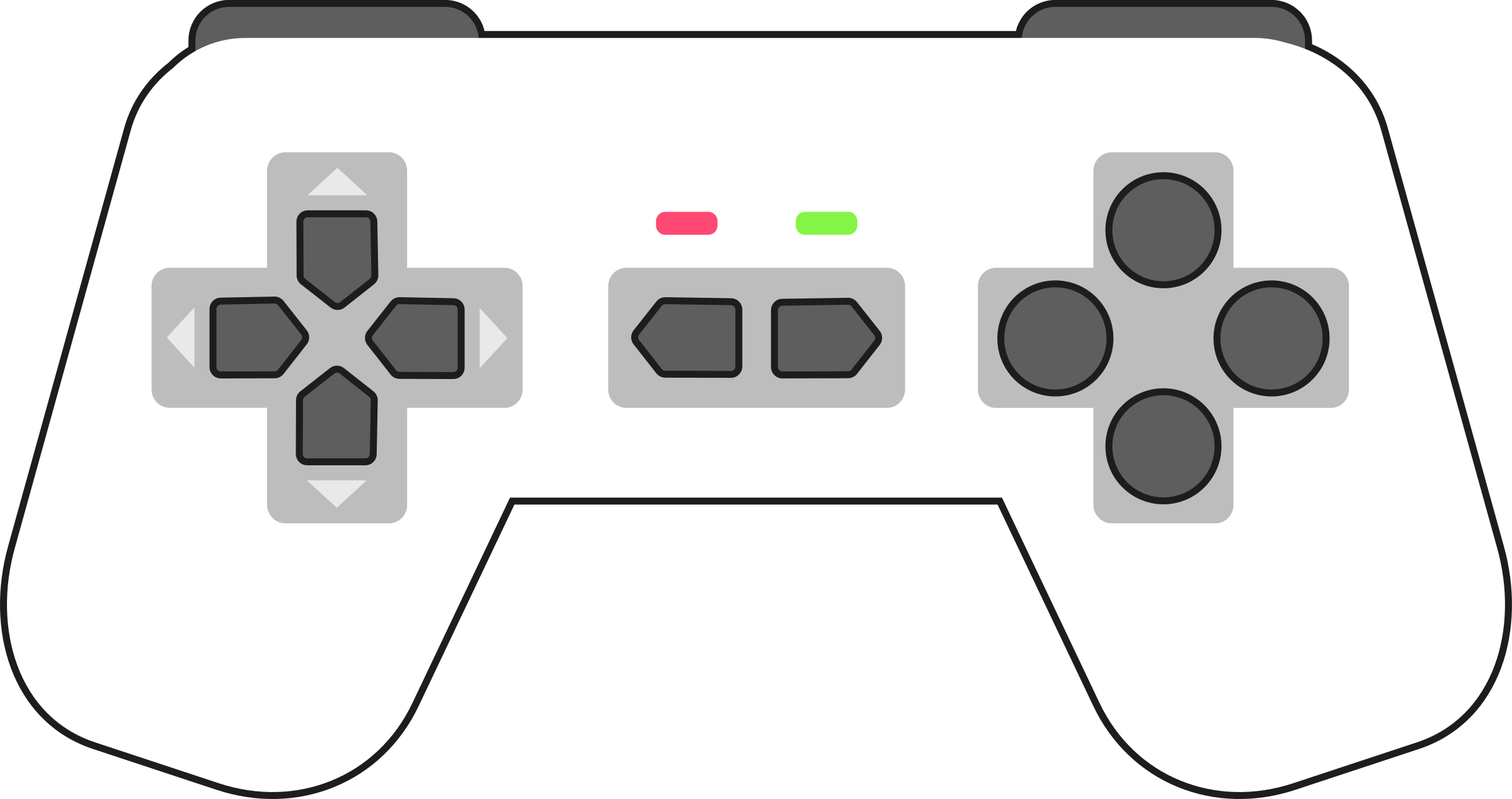 Gamepad White by qubodup