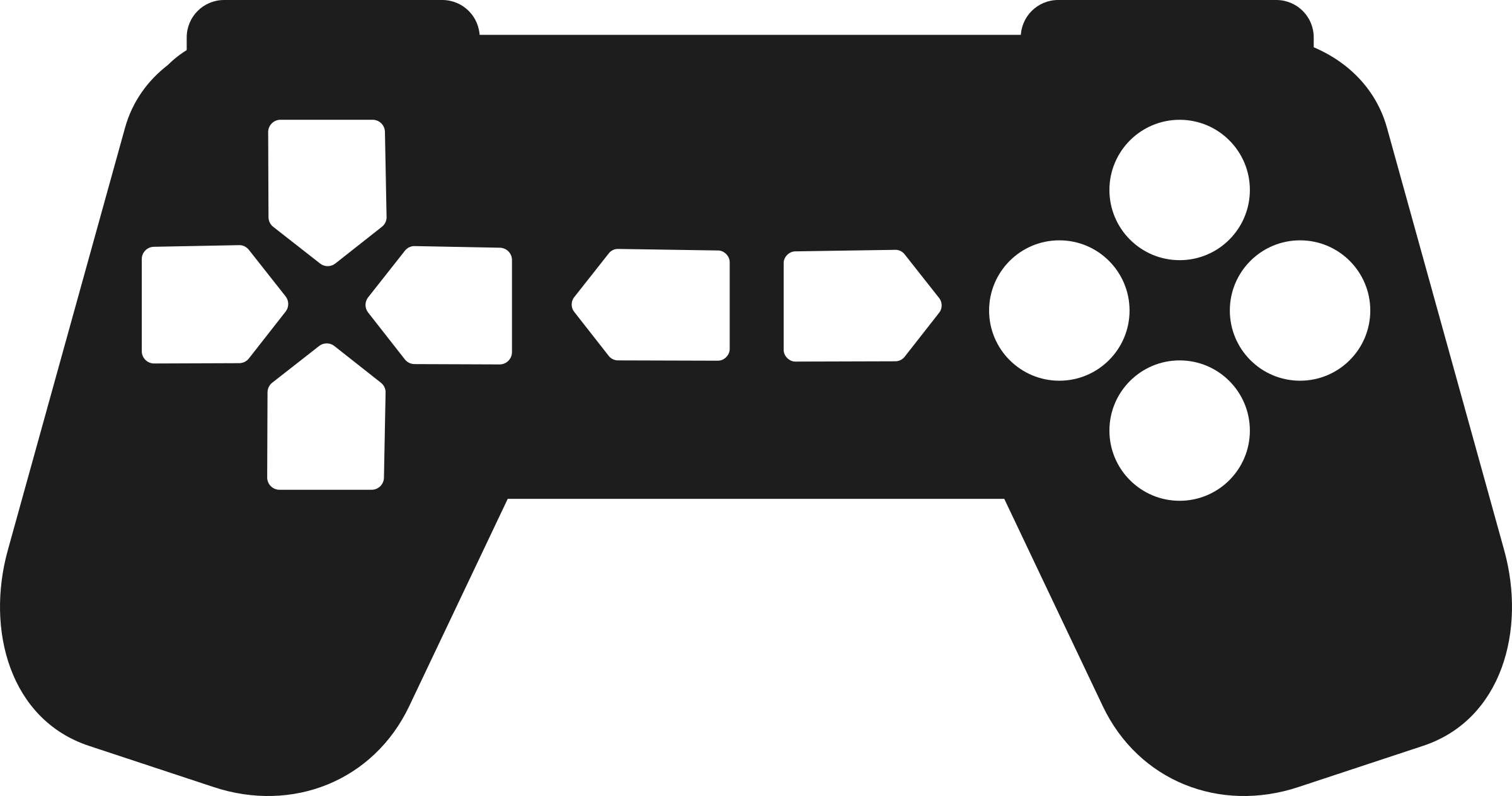 Clipart Game Controller Outline - Video game outline