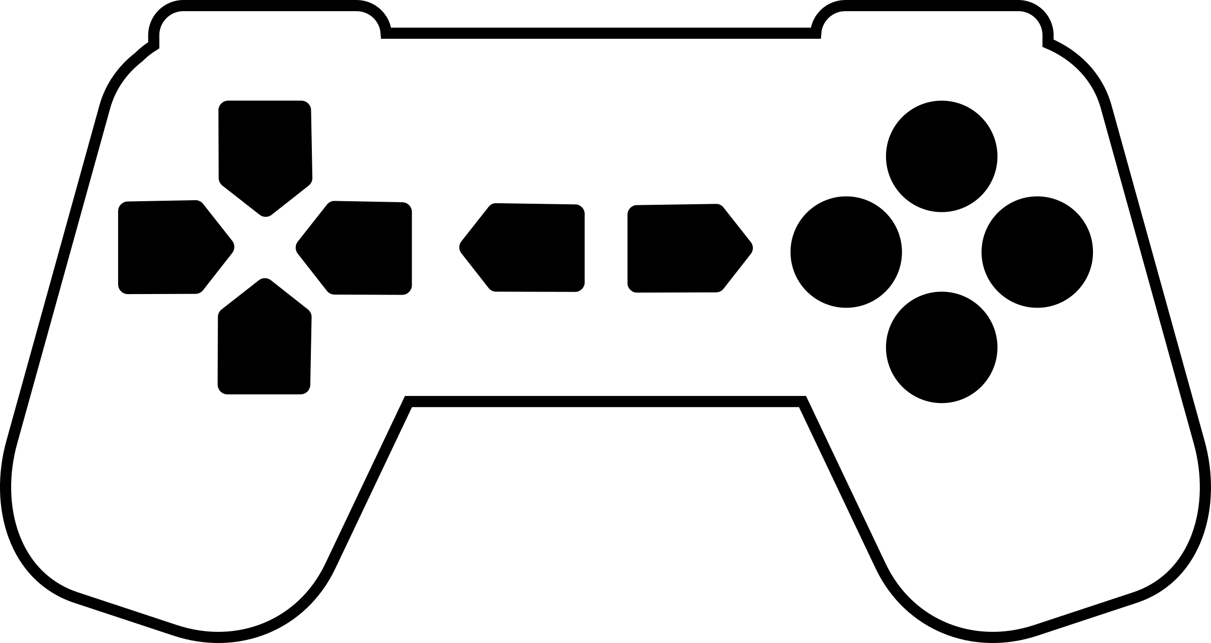 Game Controller Outline White 2 by qubodup