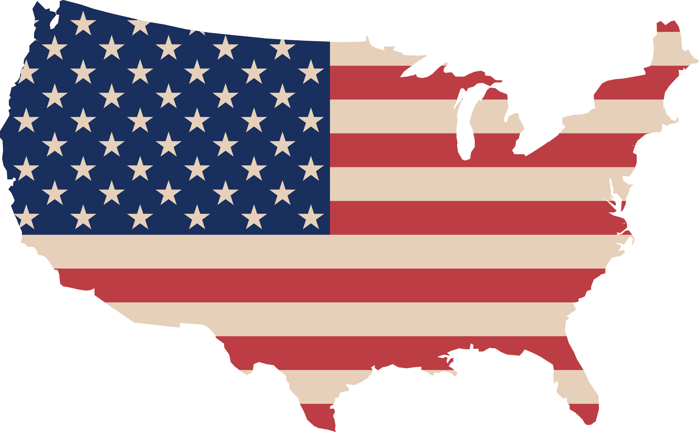 USA map and flag by cyberscooty