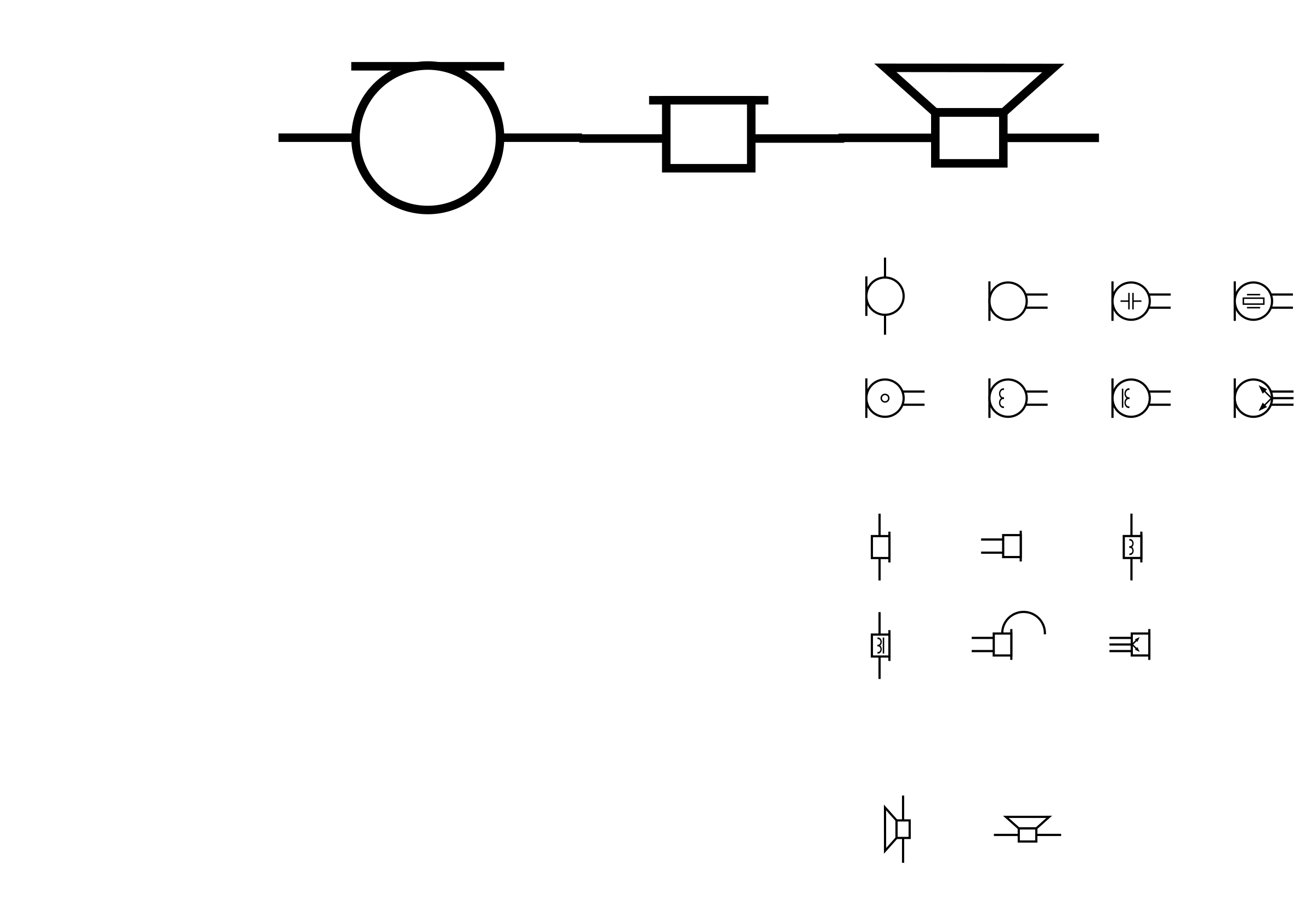 Clipart - Fixed: GOST Electronic symbols: electroacoustic devices