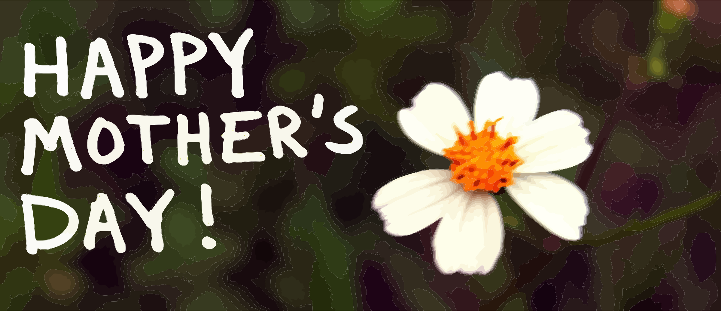 Happy Mother's Day banner with flower by mrsdkrebs