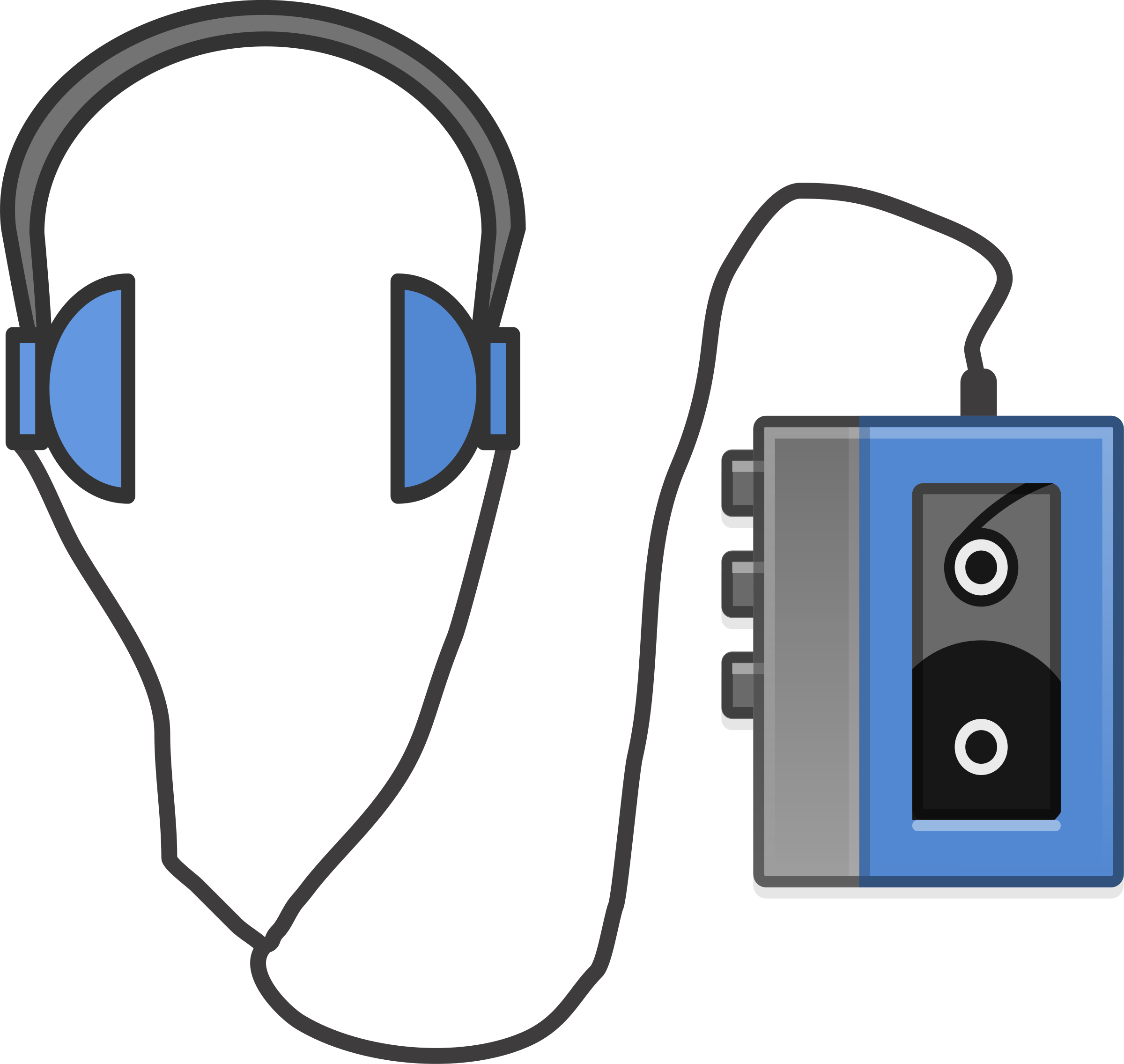 Headphones with Portable Tapeplayer by j4p4n
