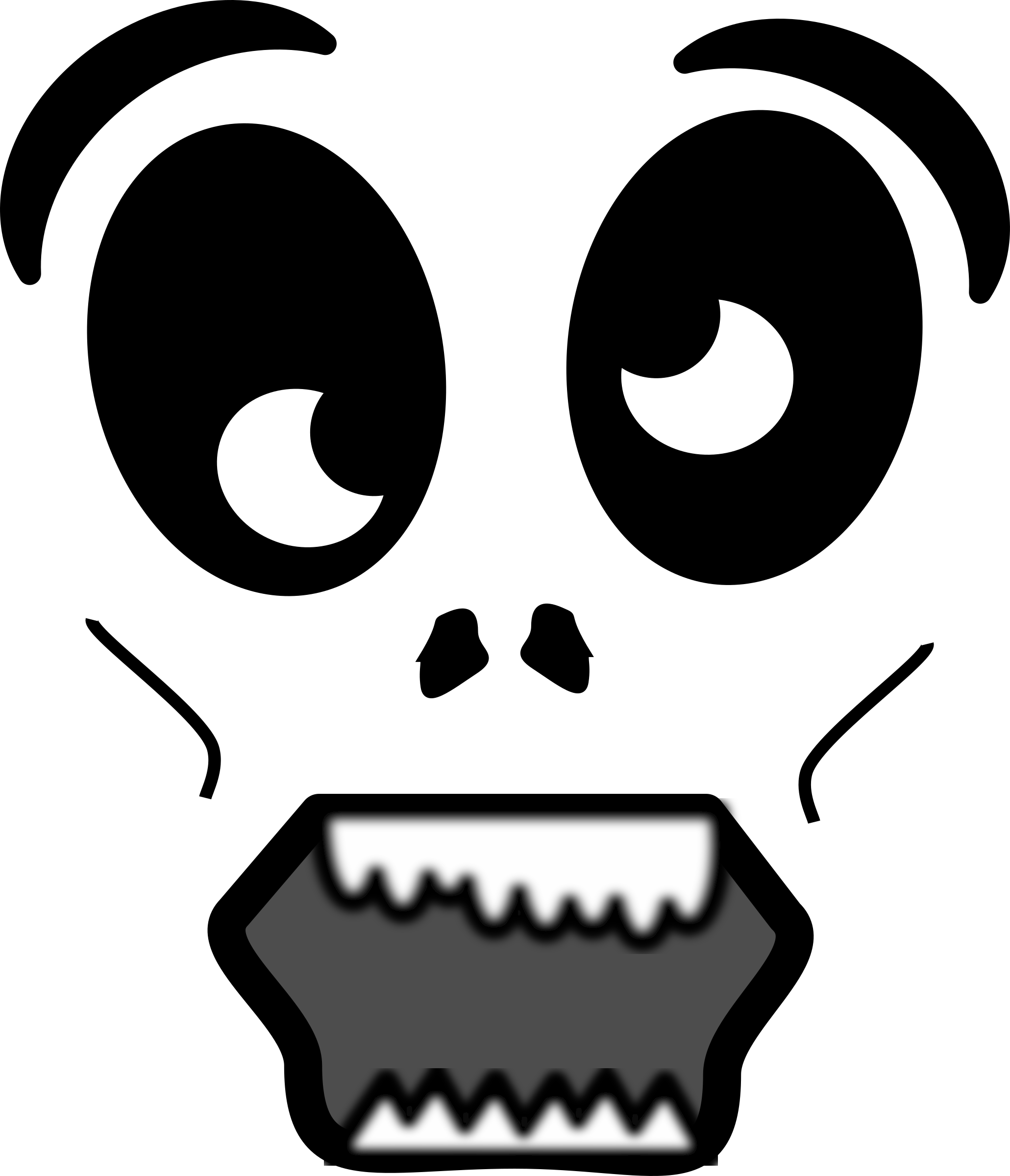 Cartoon Zombie Face by FunDraw_dot_com