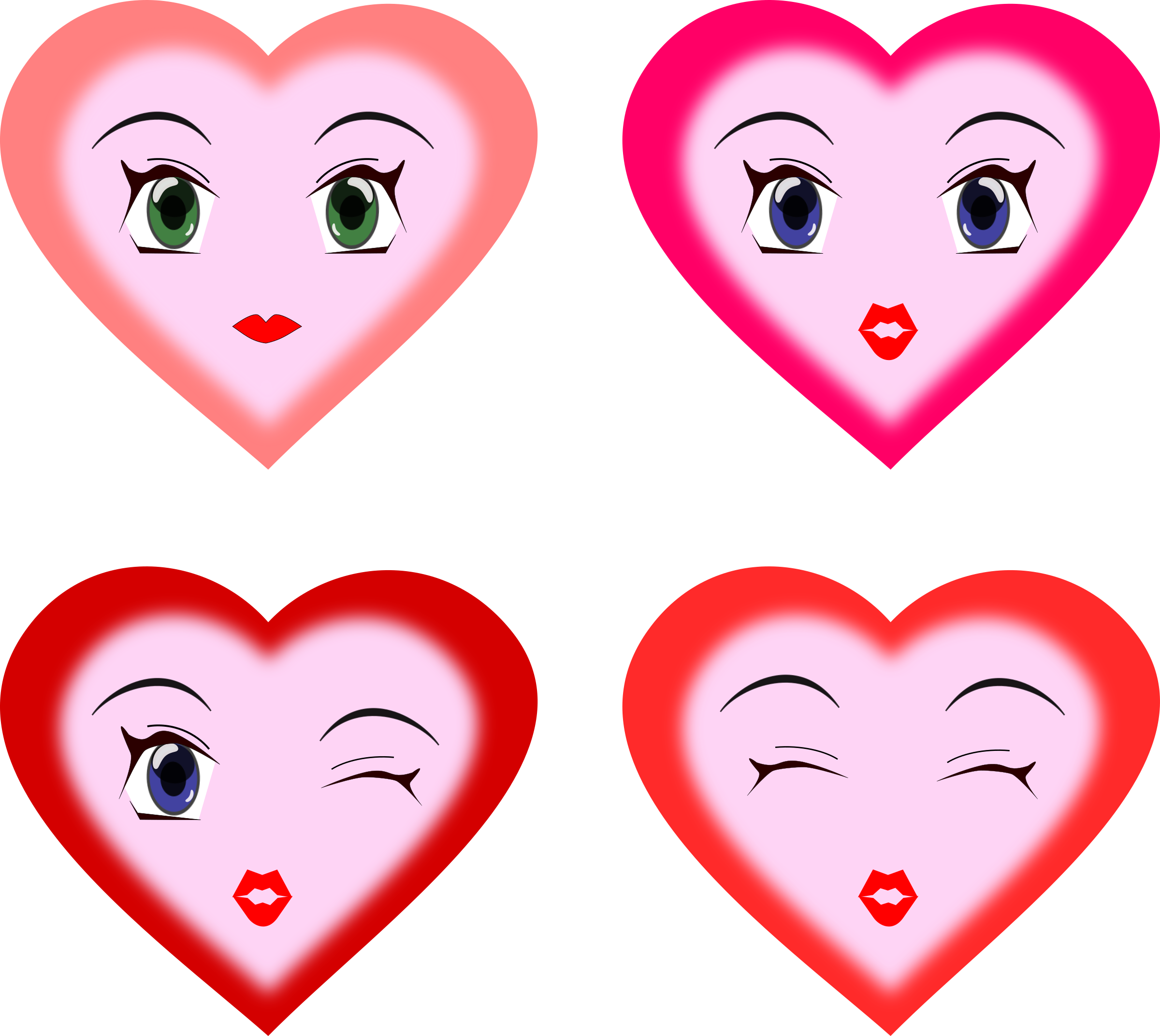 heart faces by wsnaccad