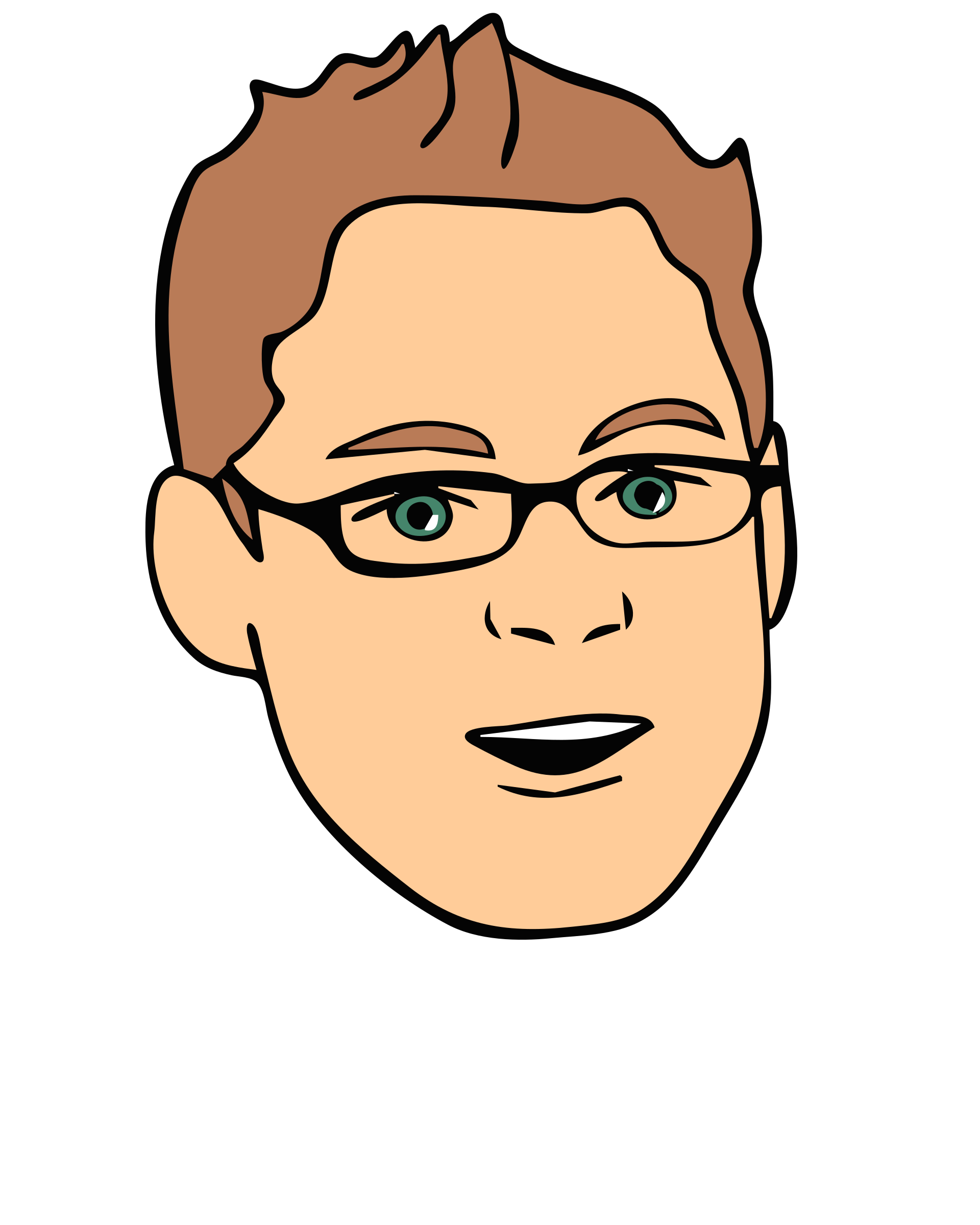 Clipart - Face, Avatar, Man, Male, Glasses 2