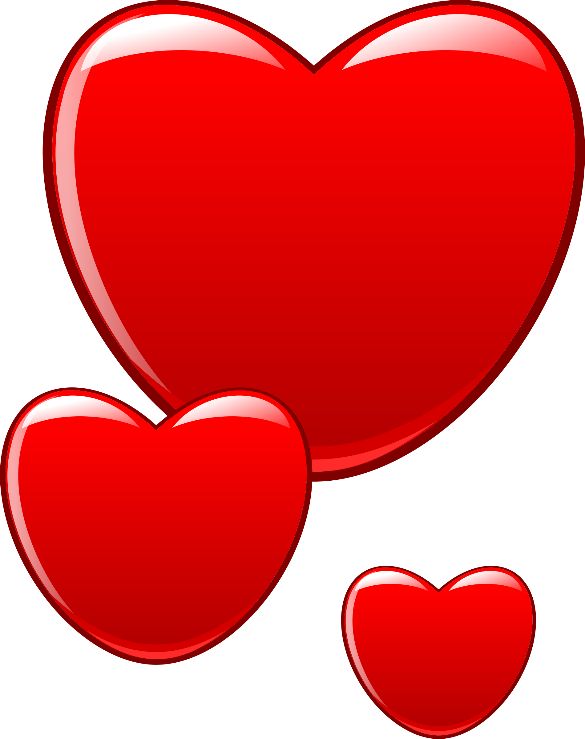 Clipart hearts that beat as one for Clipart cuore