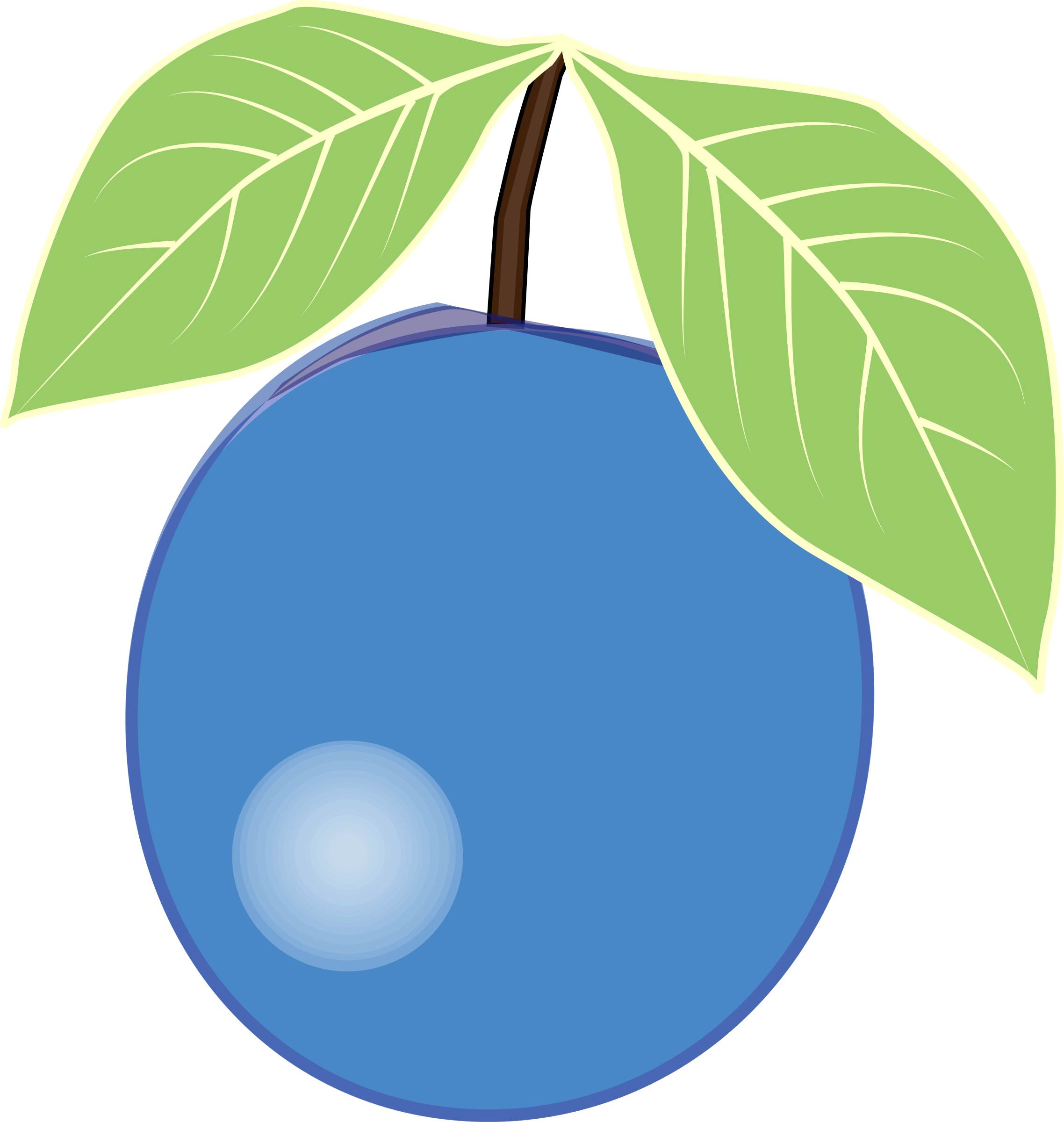 Clipart - Blueberry