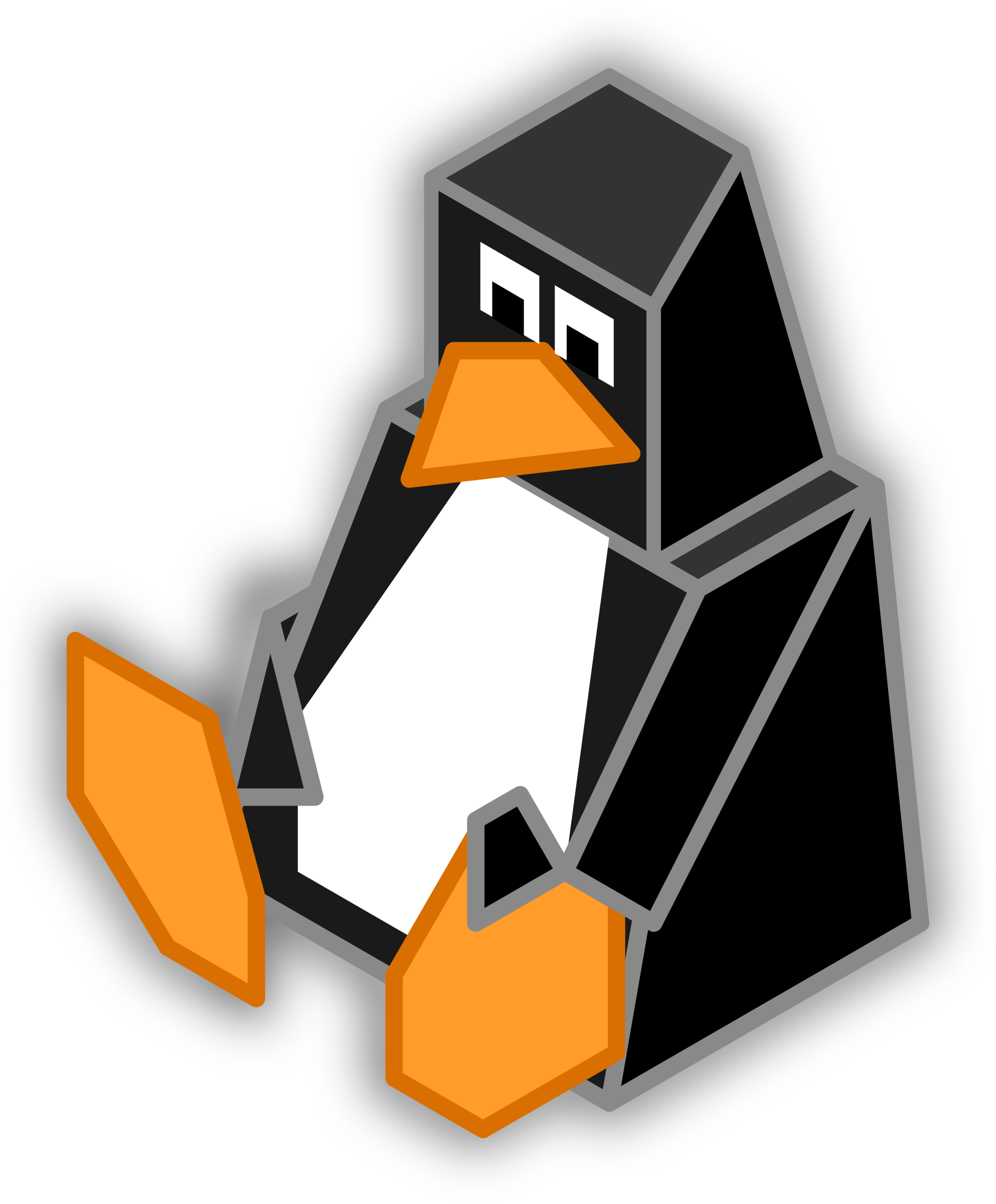 Isometric Tux by Fabuio
