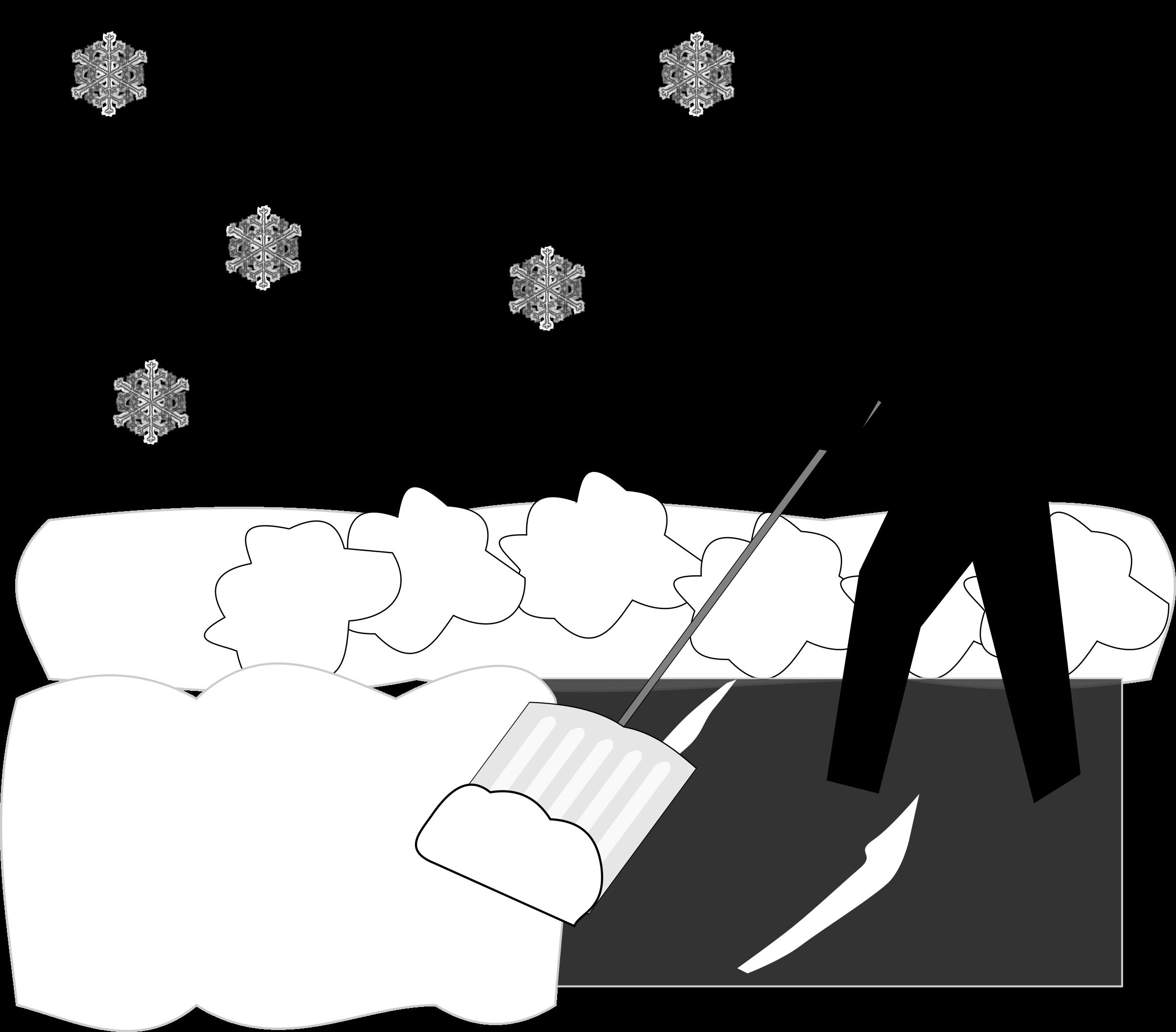 shoveling snow clipart free - photo #33