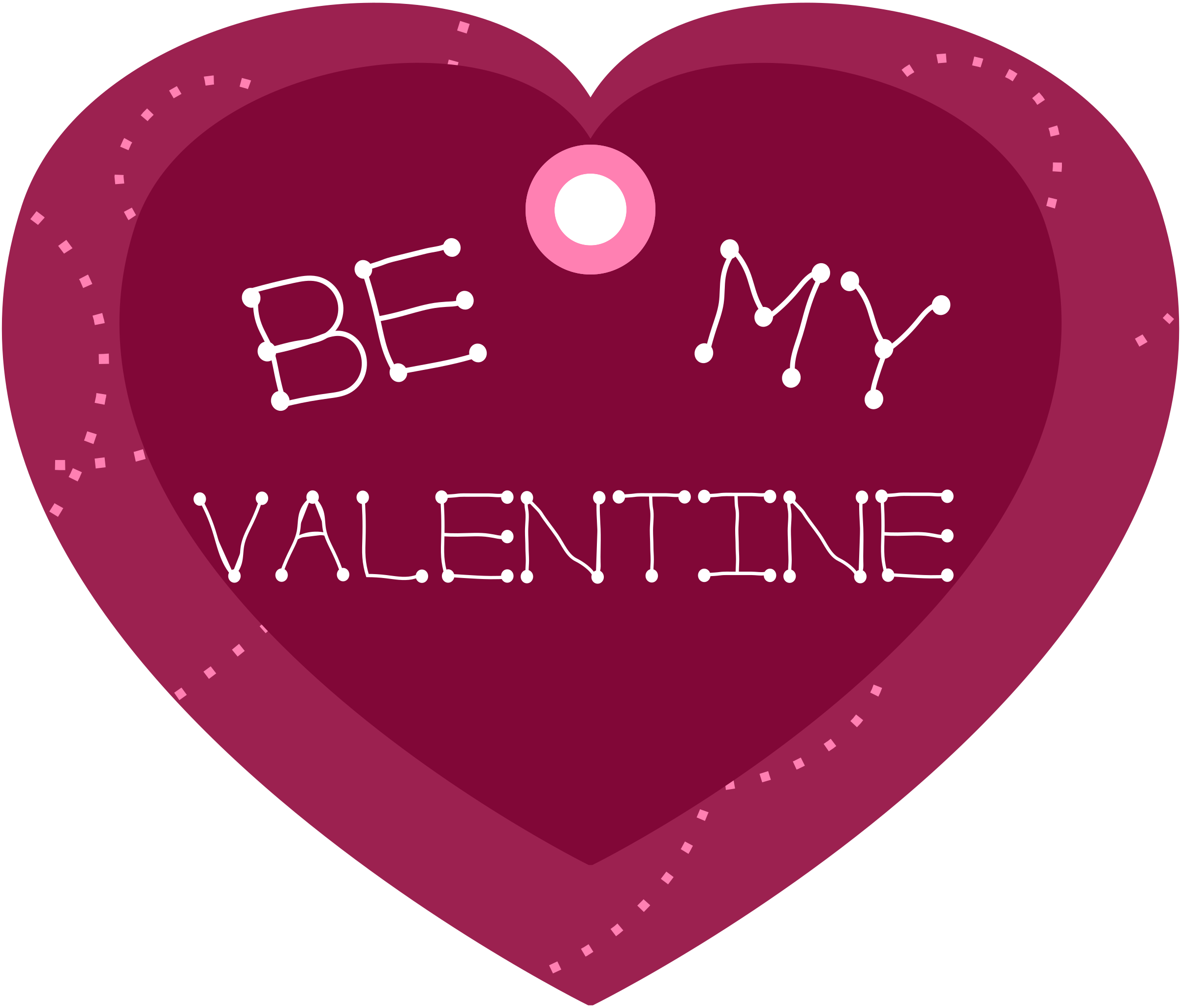 Be My Valentine Heart Shaped Gift Tag by pixabella