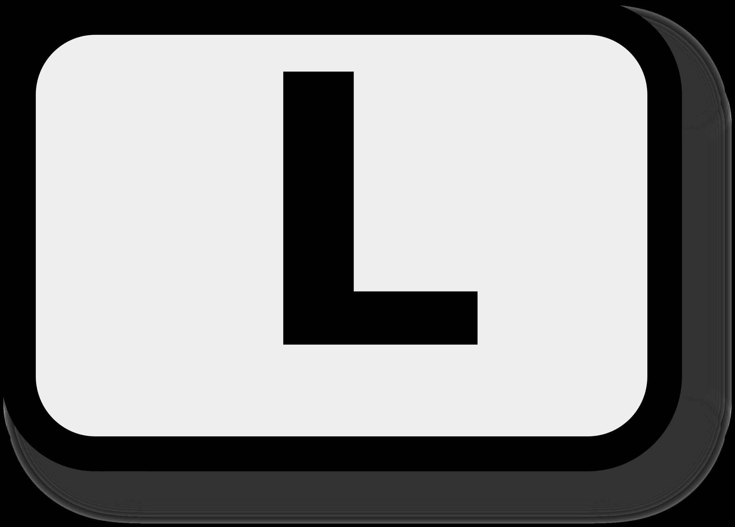 clipart - letter l