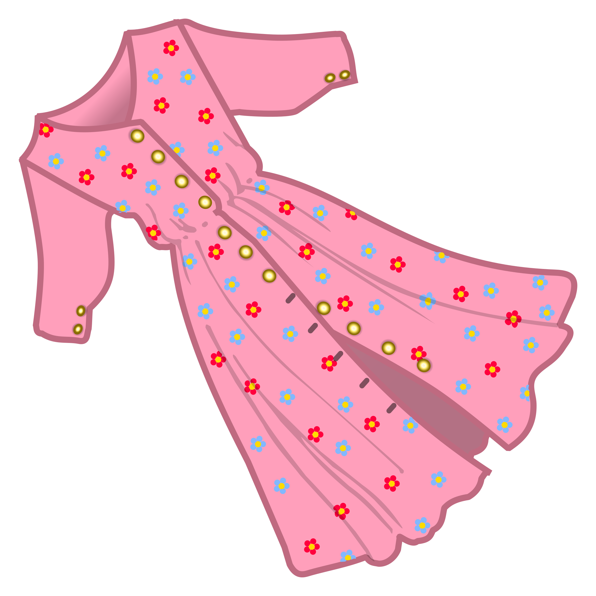 clipart dress coloured rh openclipart org clip art dressing up clip art dress images for girl
