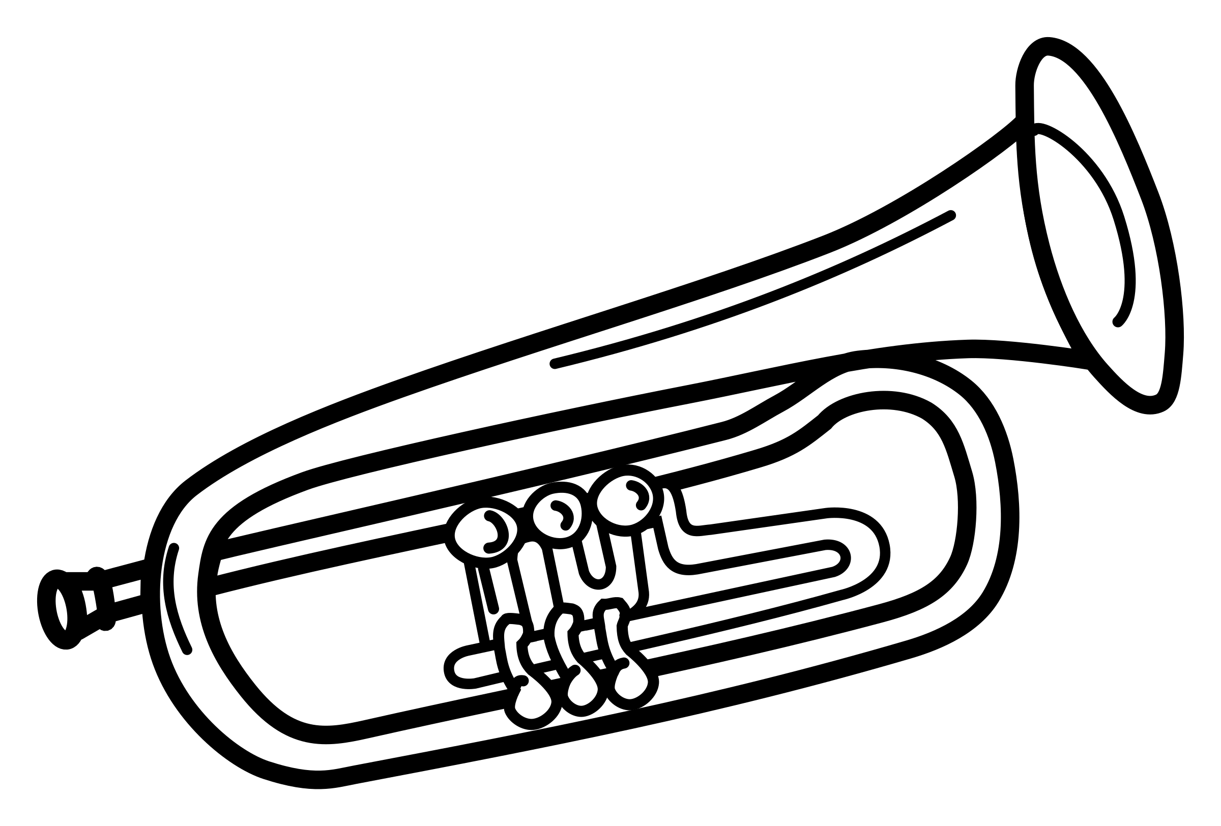 trumpet - lineart by frankes