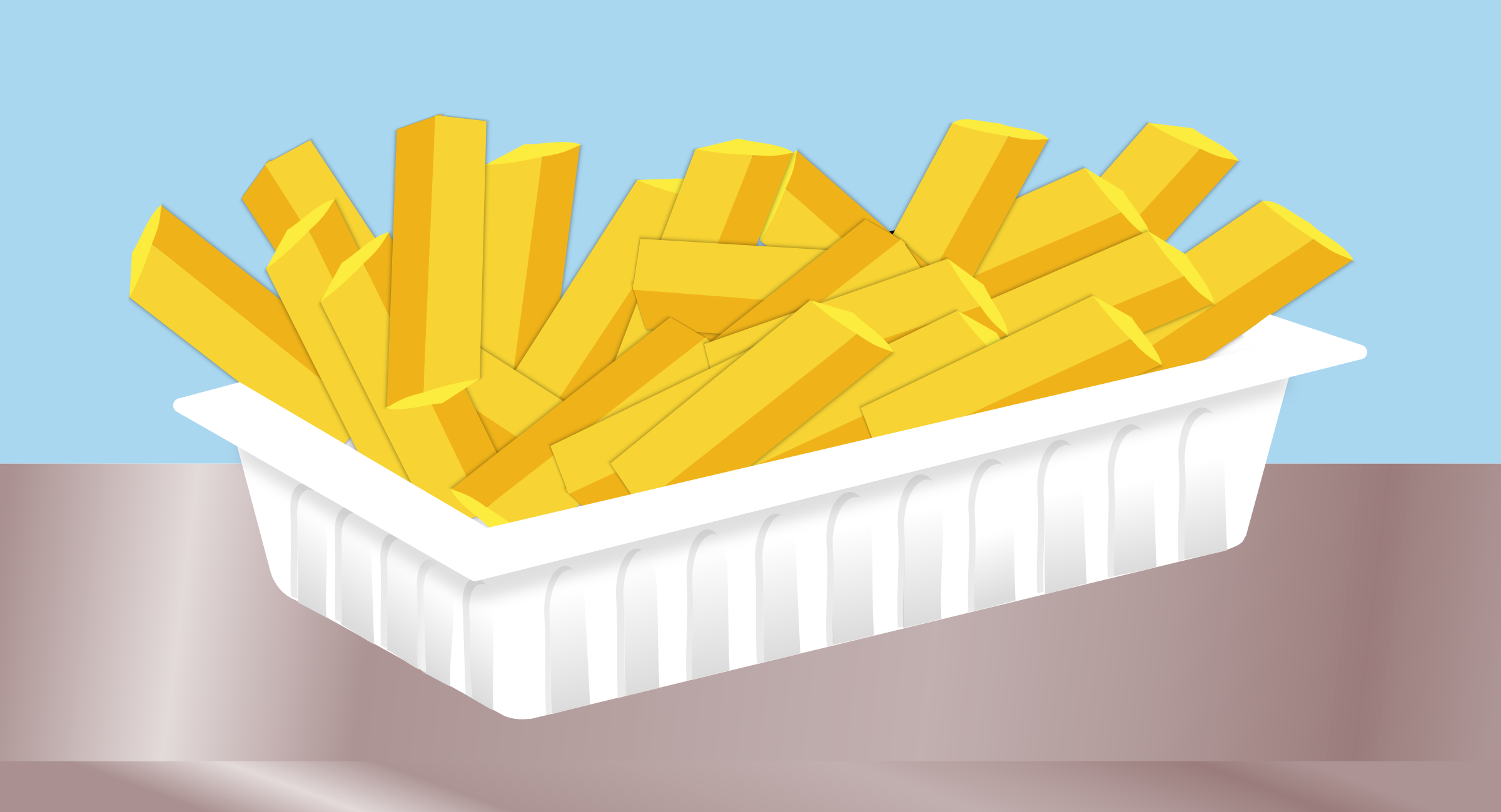Fries without sauce by rdevries