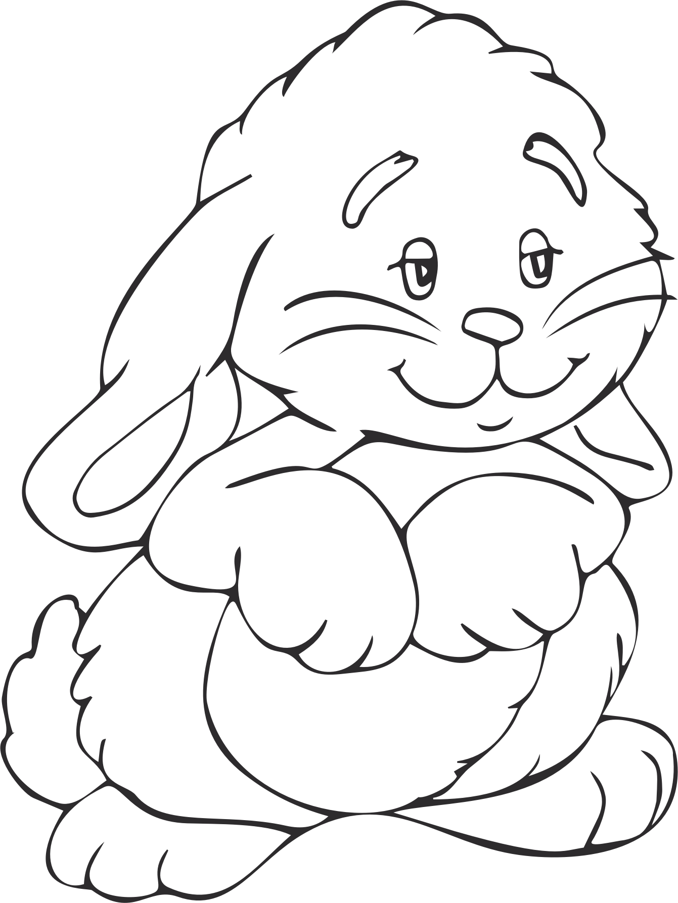 Bunny Outline Png Bunny Outline