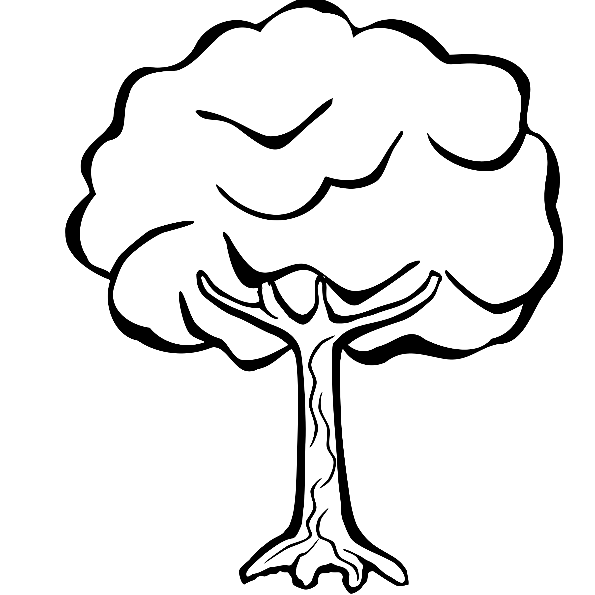 Line Drawing Of Tree : Clipart tree lineart