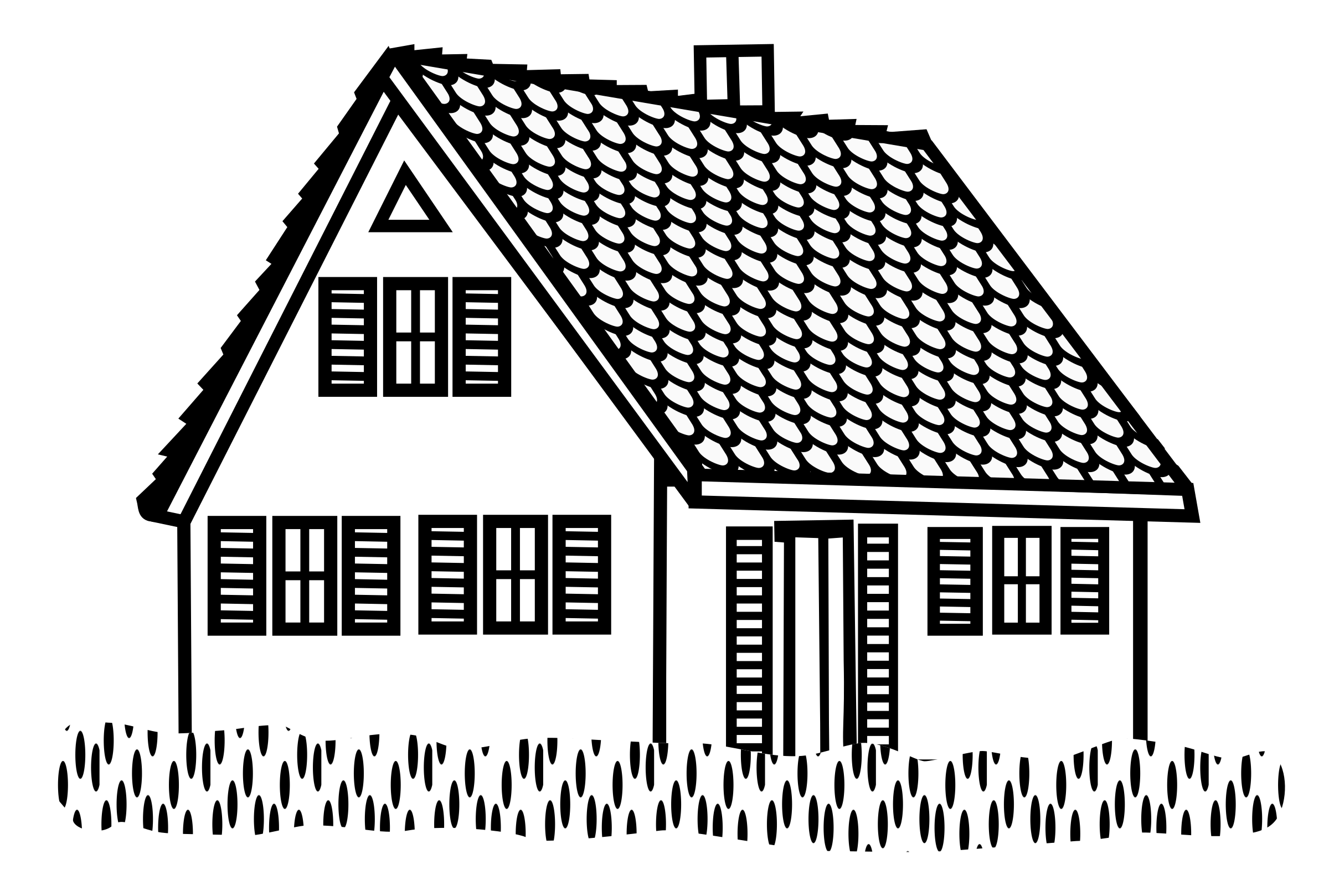 Line Art House Png : Clipart house lineart