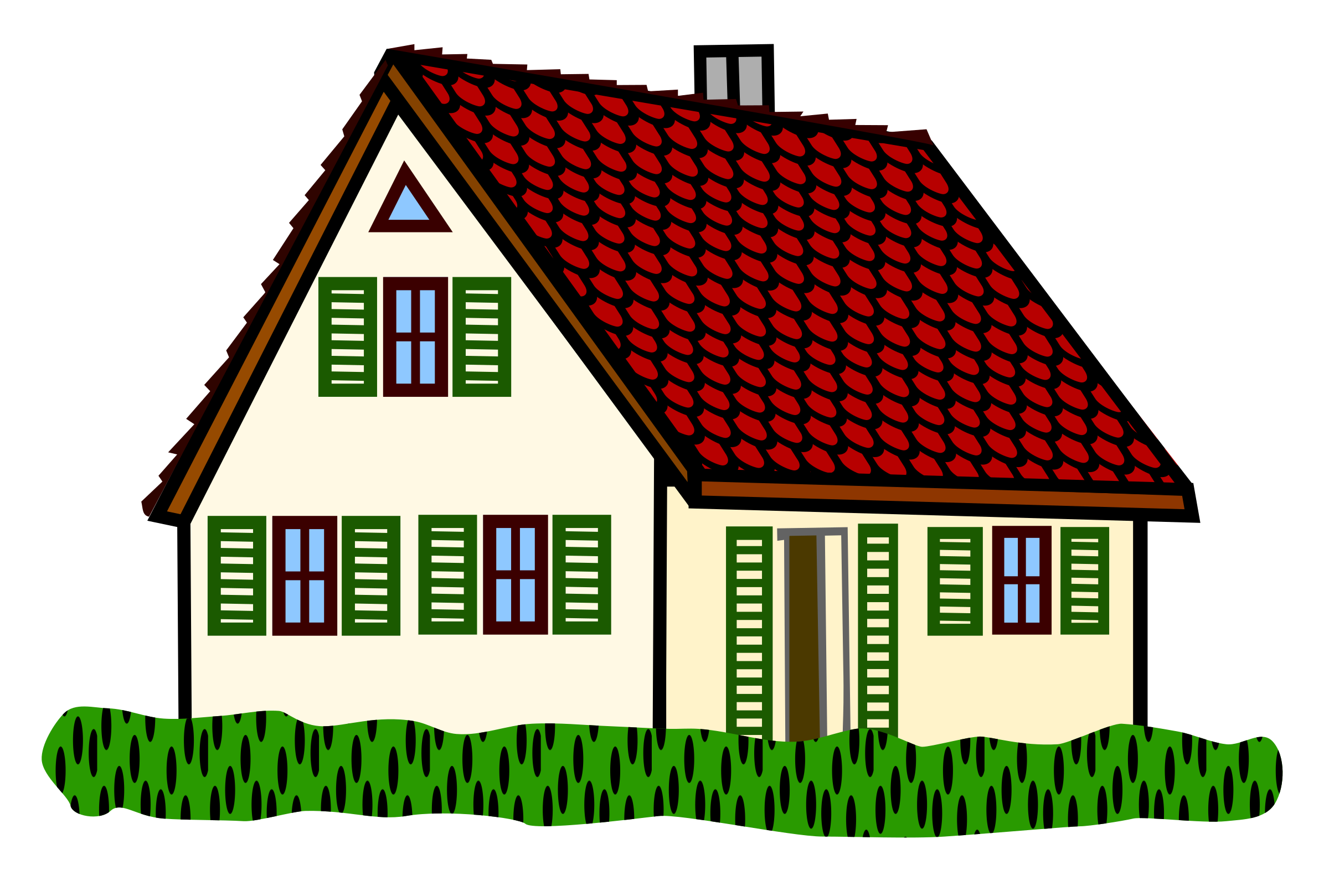 Line Art House Png : Clipart house coloured