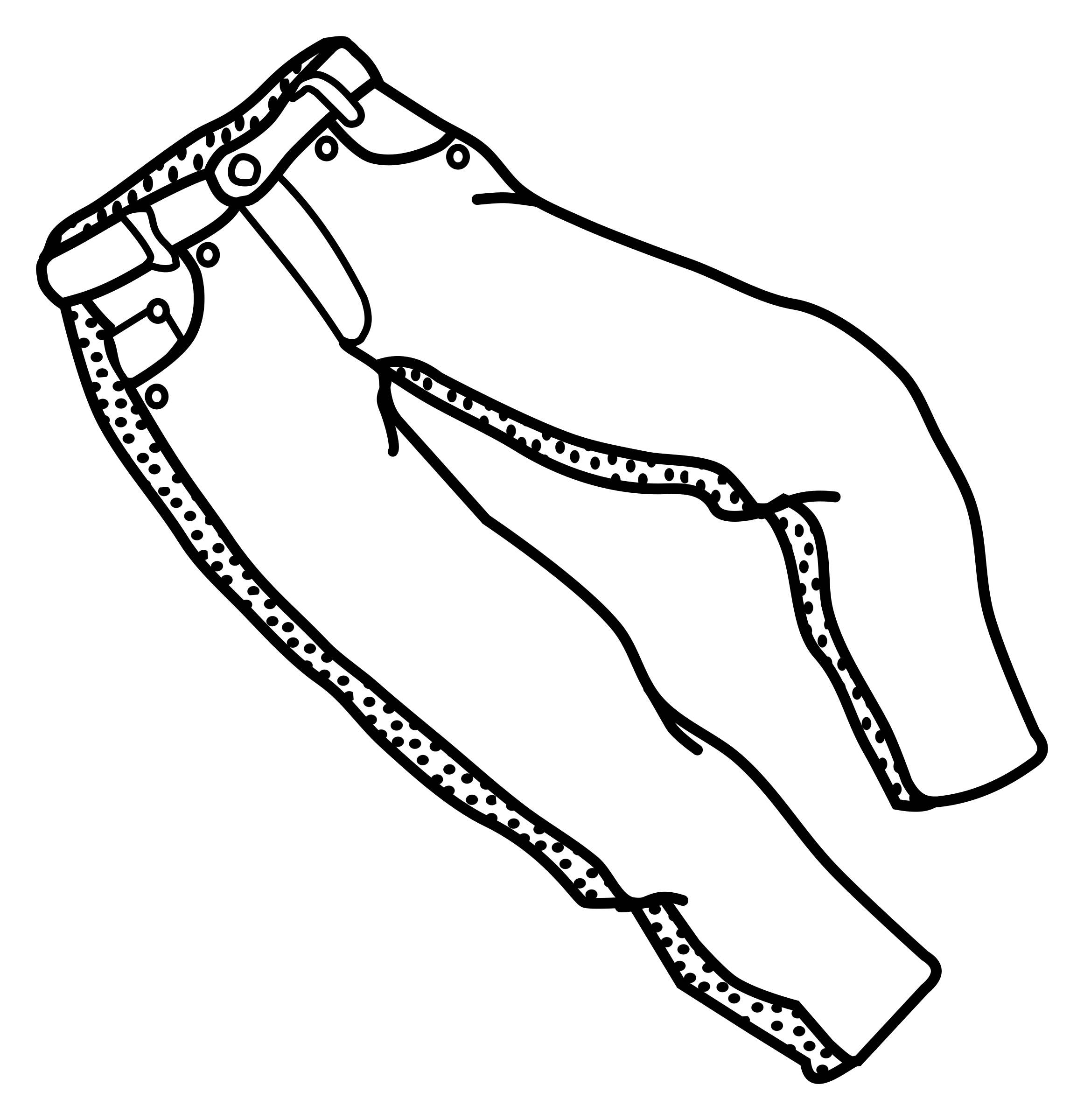 trousers - lineart by frankes