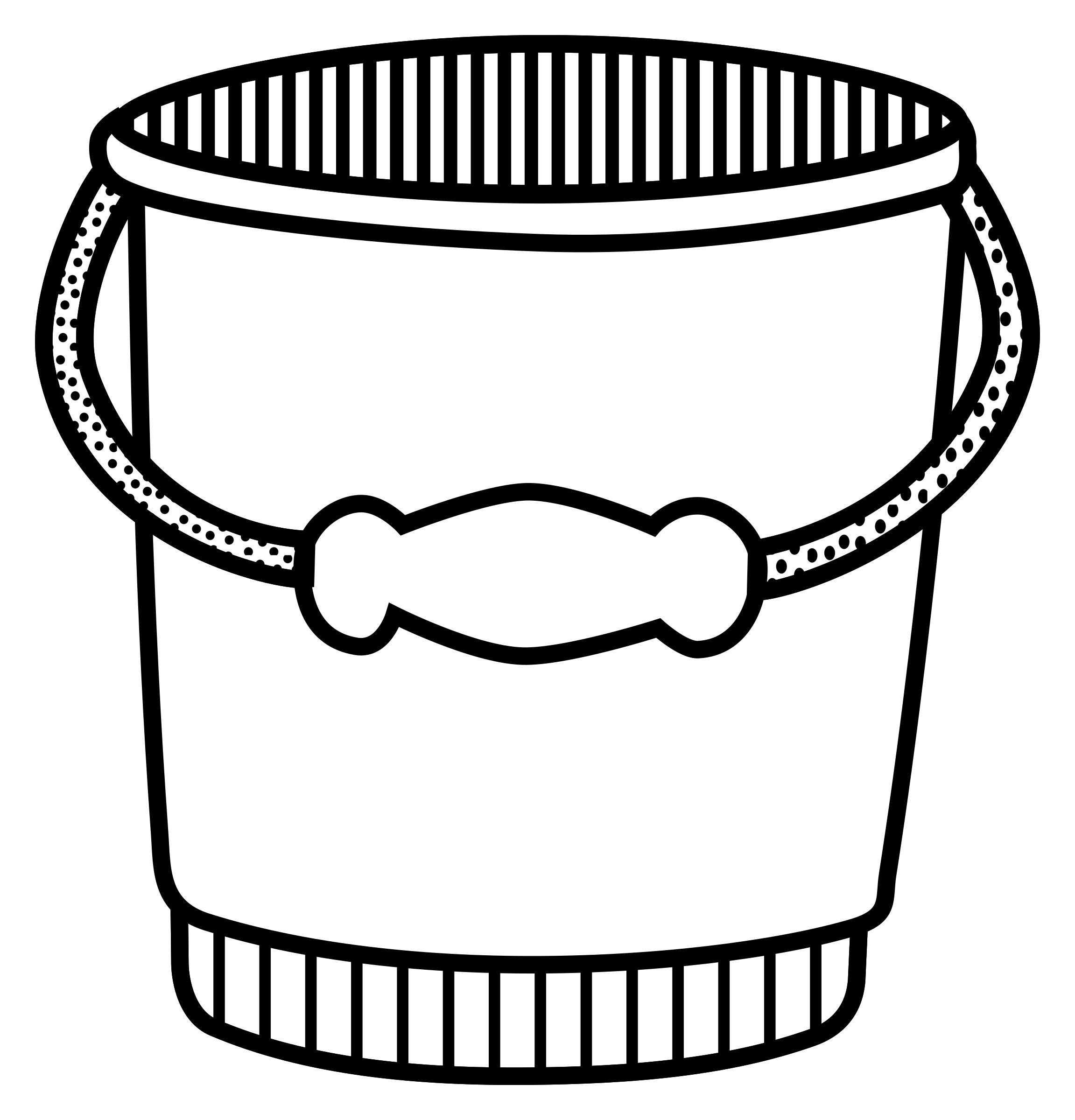 bucket - lineart by frankes