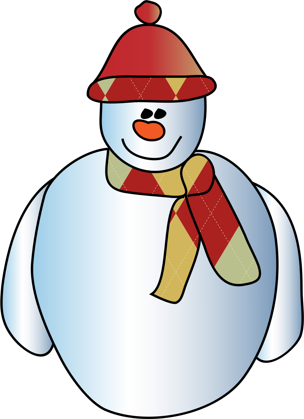 Happy snowman by spevi