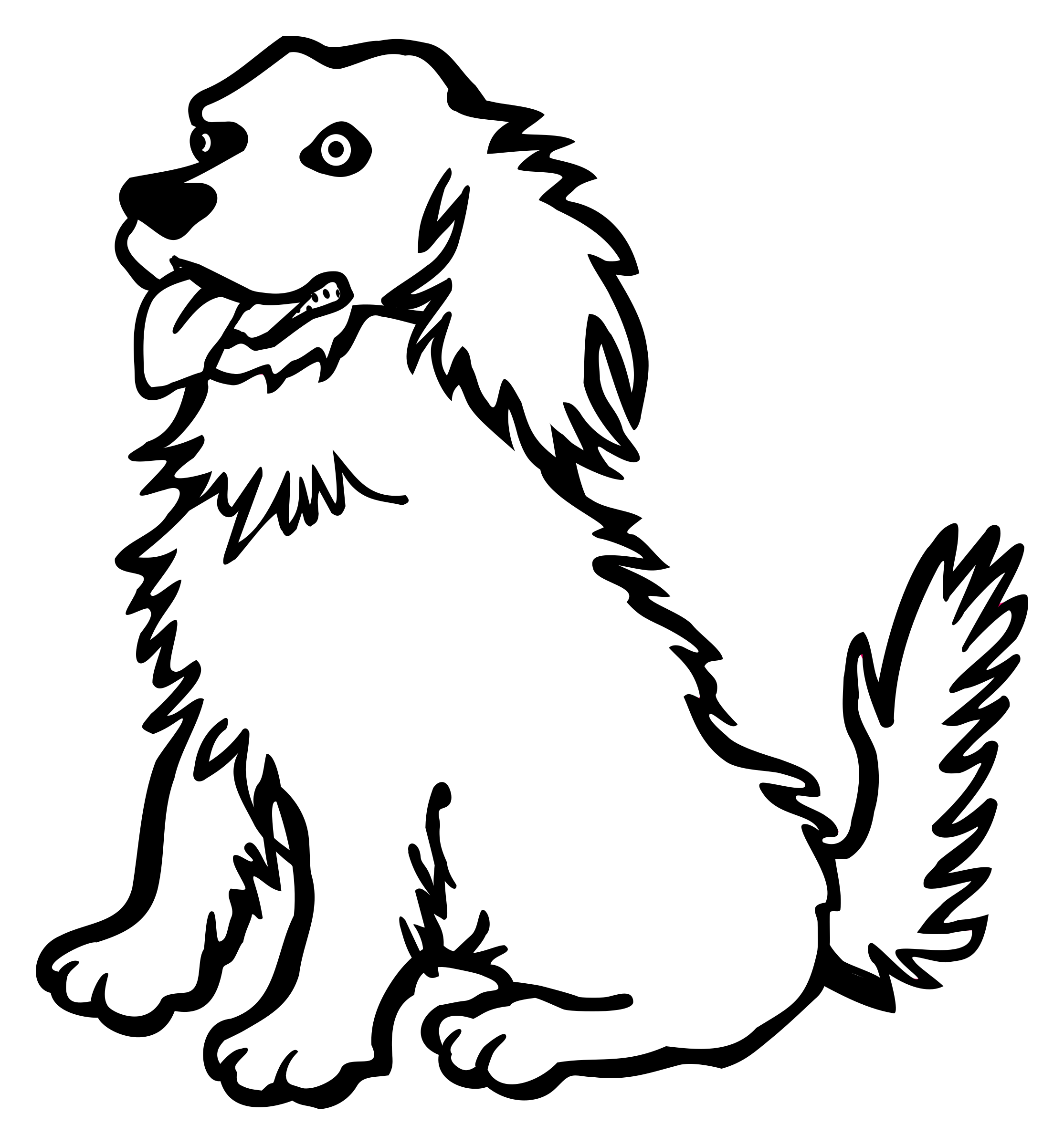 Line Drawing Of Dog : Clipart dog lineart