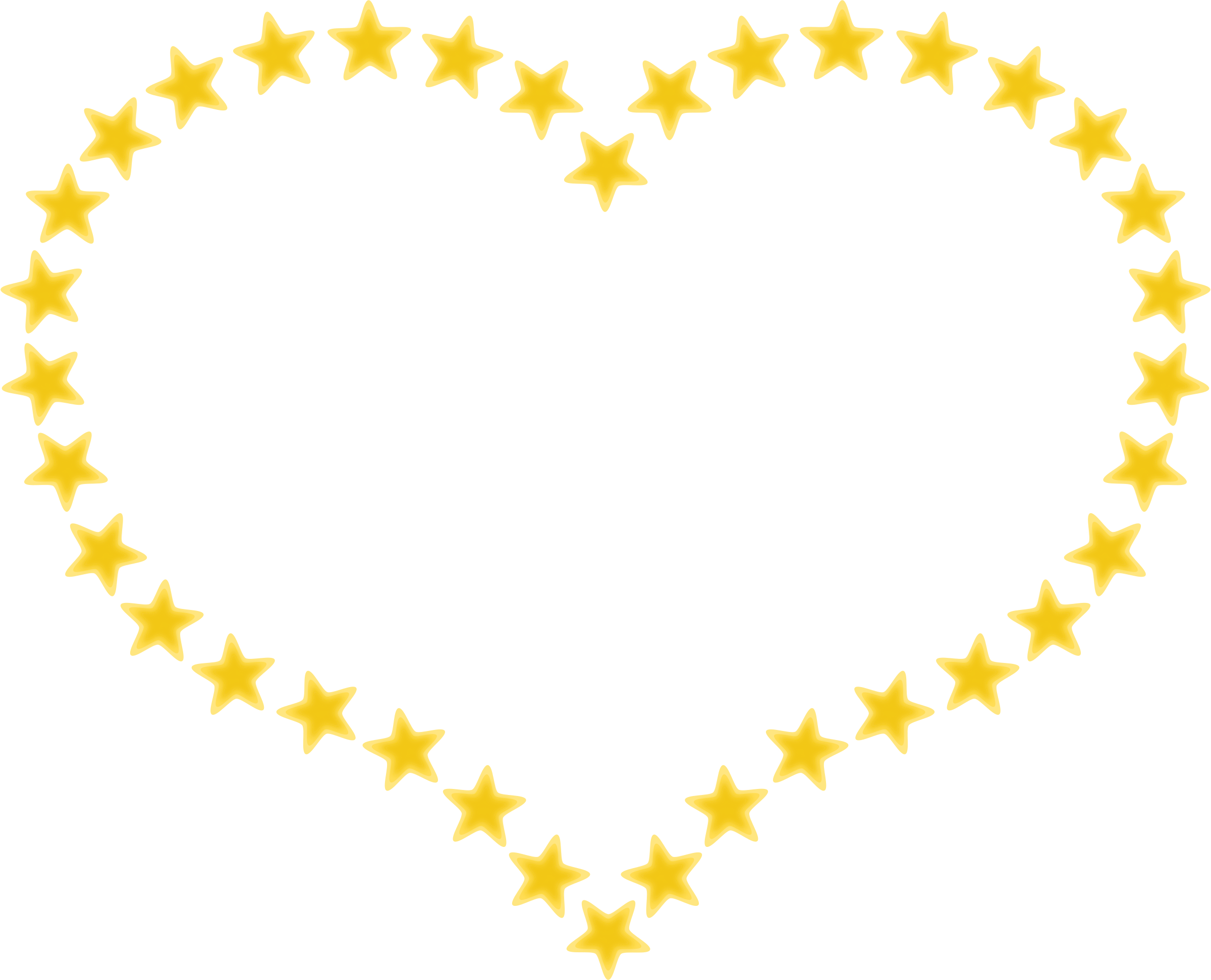 clipart heart shaped border with yellow stars rh openclipart org