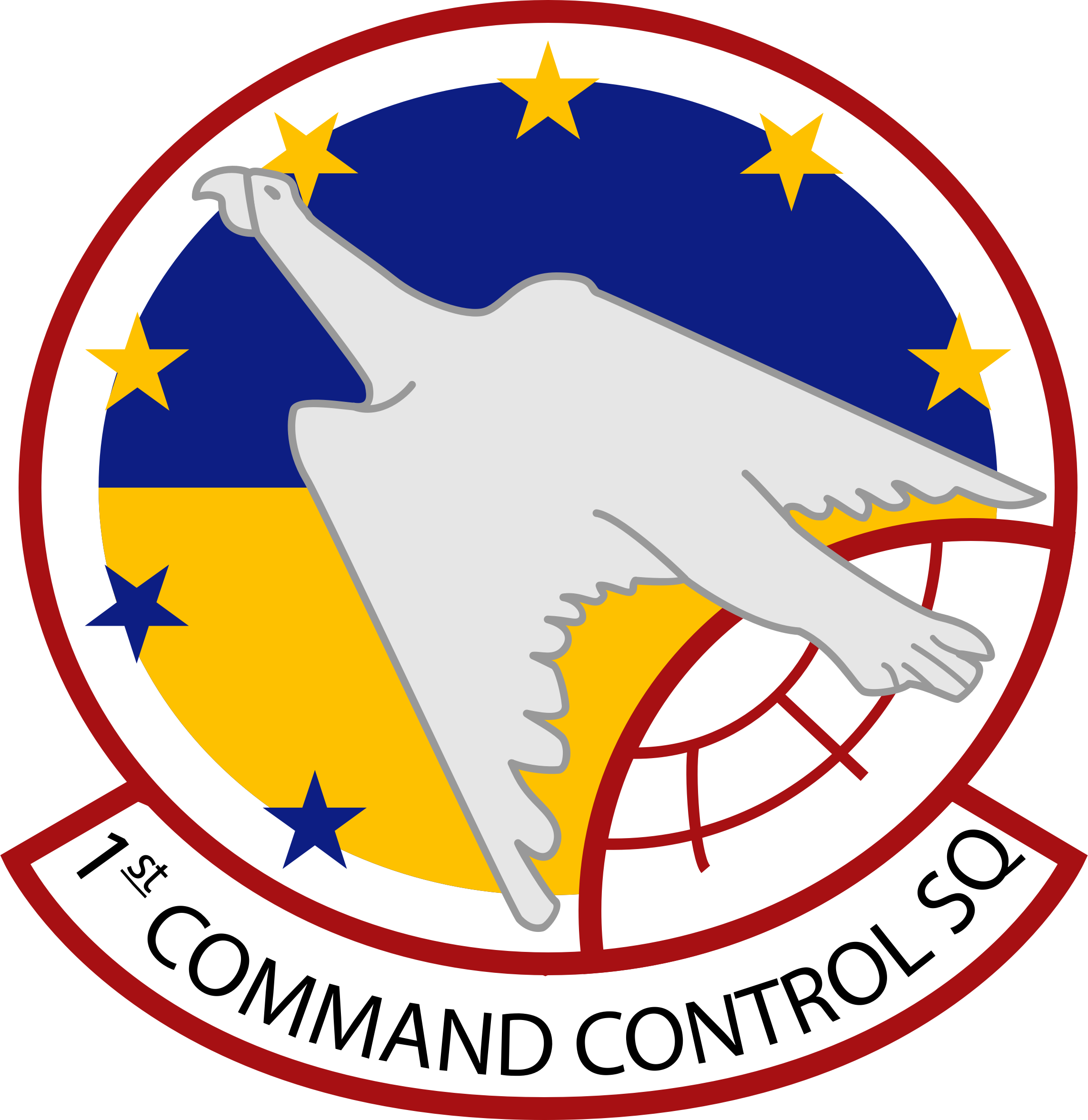 Insignia of USAF 1st Airborne Command & Control Squadron by Fred the Oyster