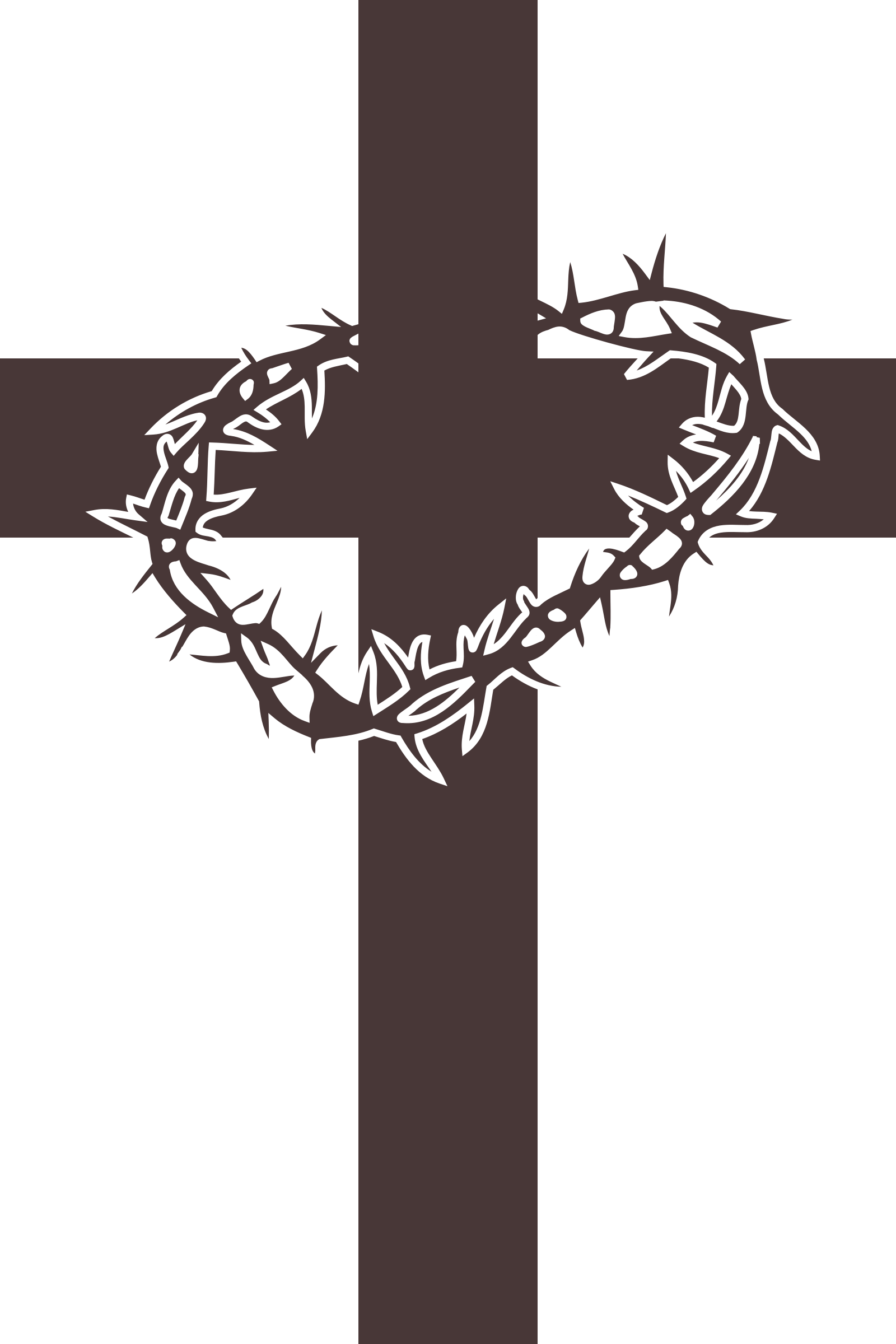 clipart cross and thorns icon rh openclipart org clipart of crosses free clipart of cross and bible