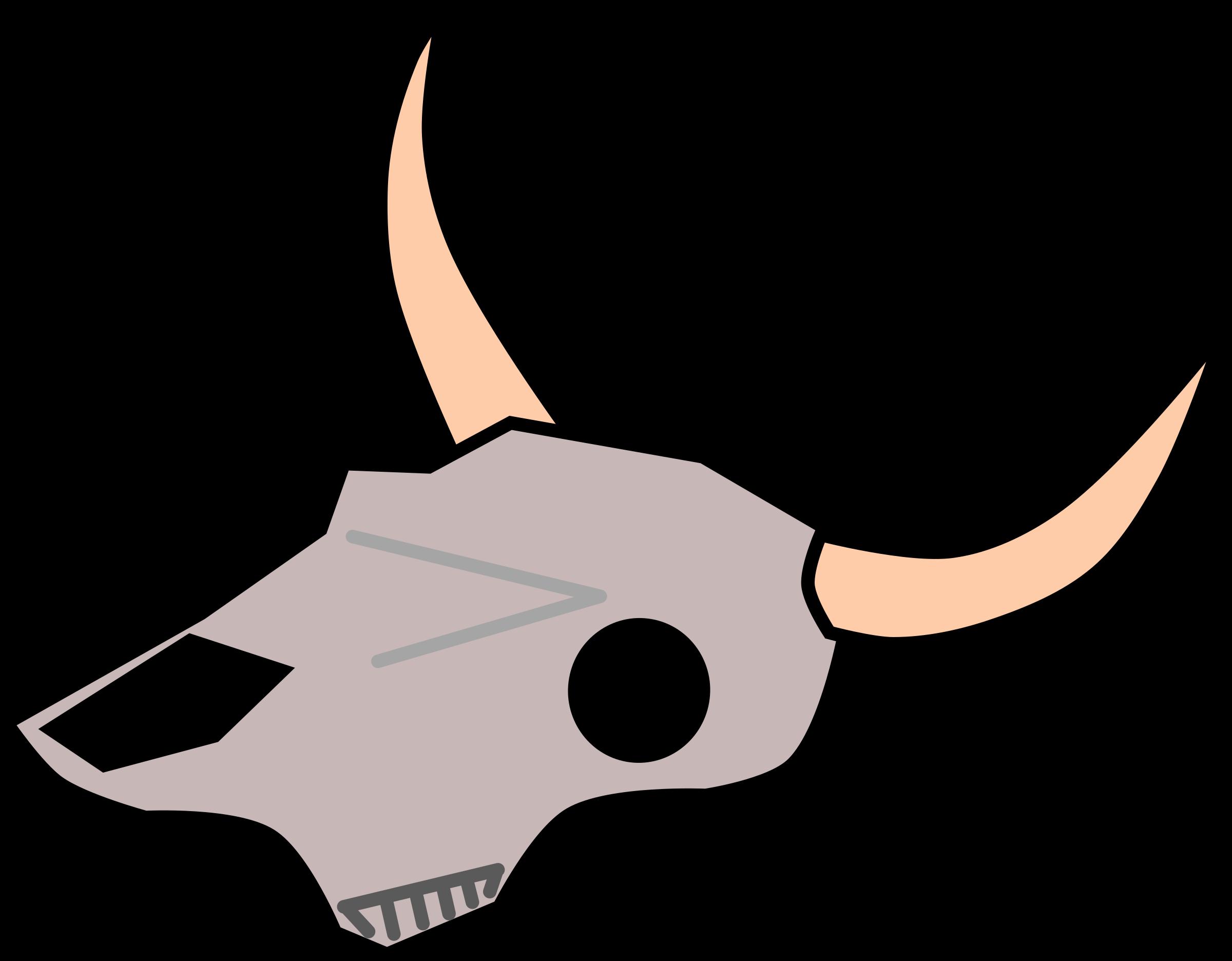 clipart cow skull rh openclipart org cow skull clipart cow skull clip art free