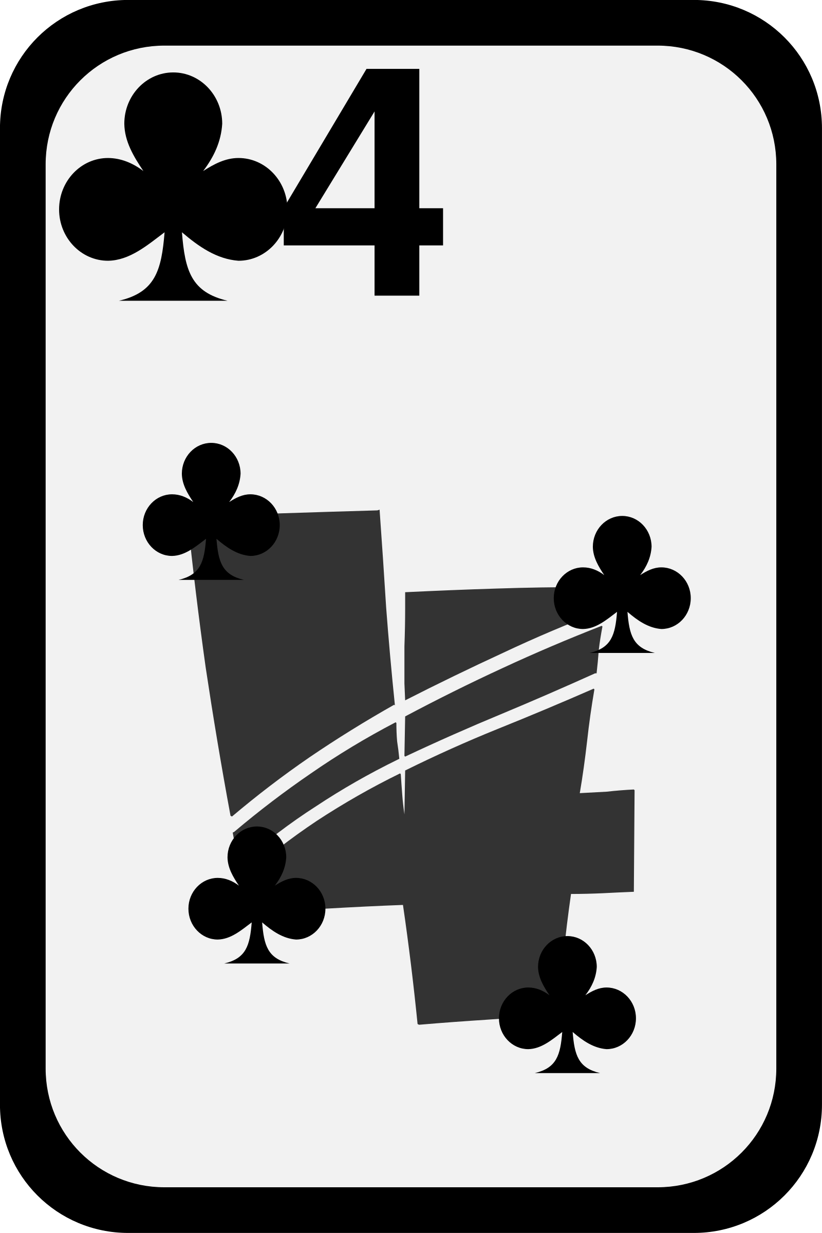 Four of Clubs by momoko