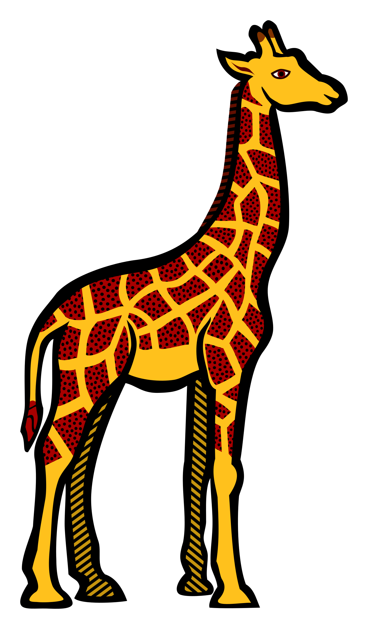 giraffe - coloured by frankes