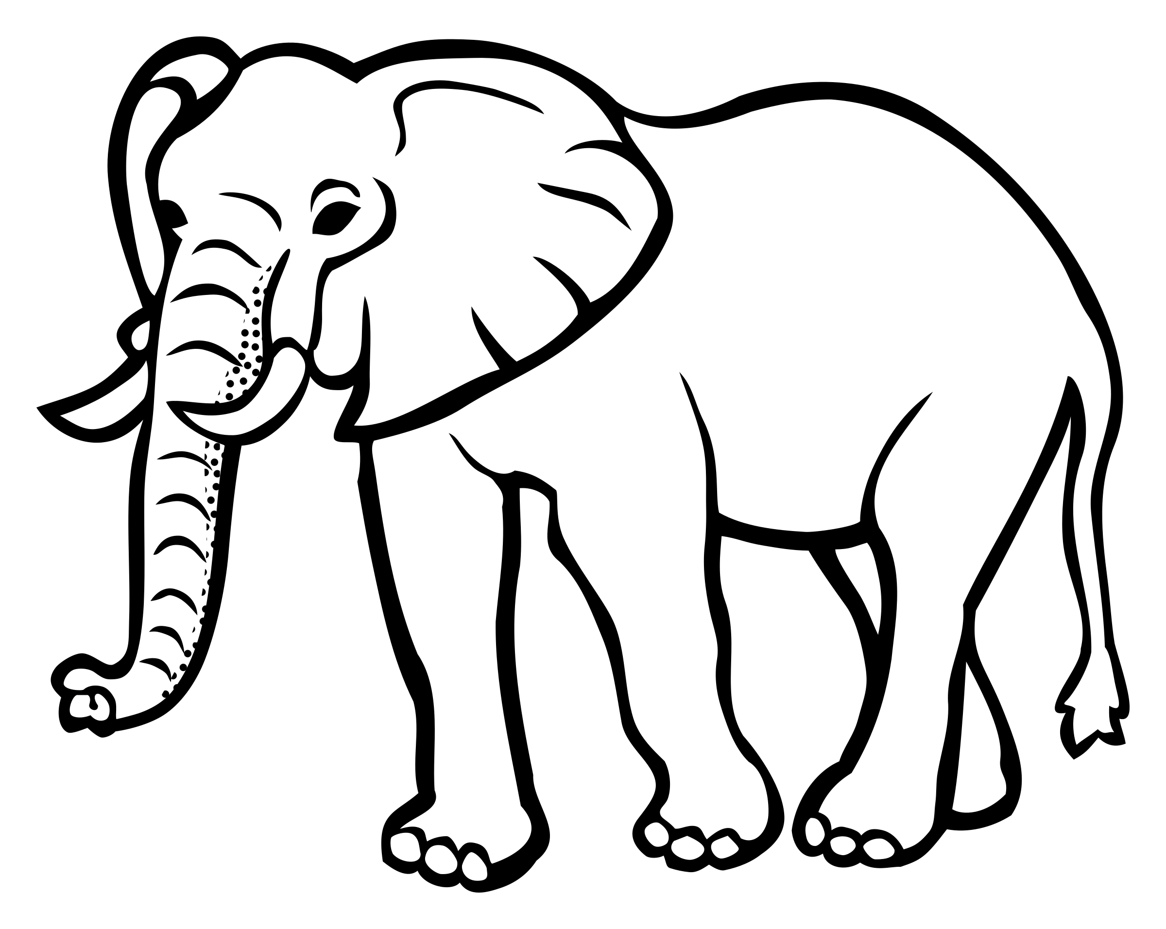 elephant - lineart by frankes