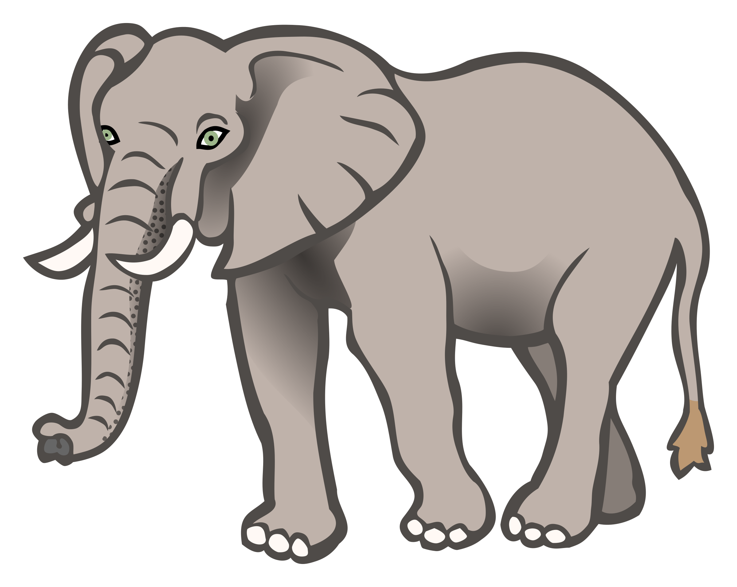 clipart elephant coloured rh openclipart org clipart of elephant trunk clipart of elephant head