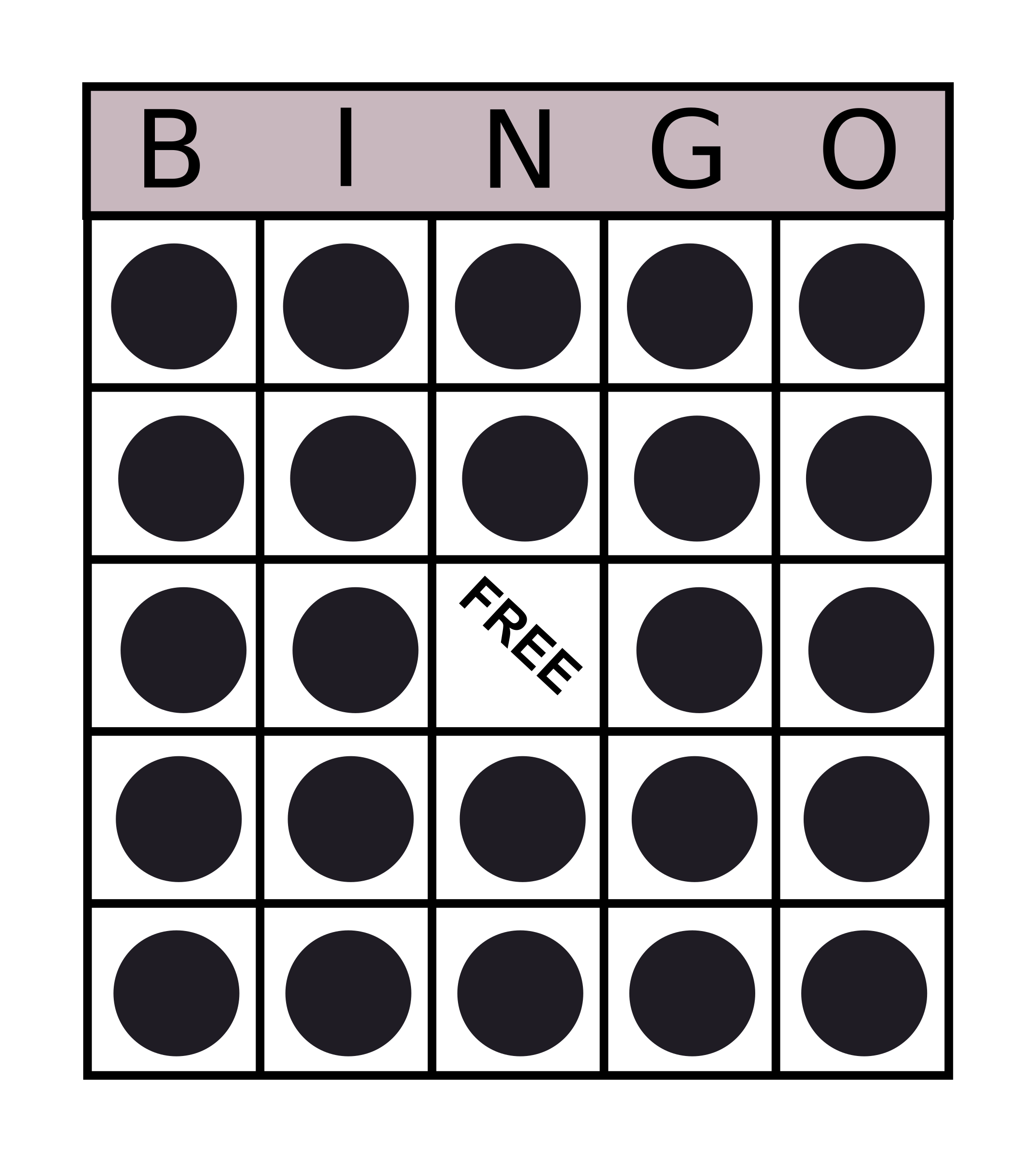 Bingo Card by Andrew_R_Thomas