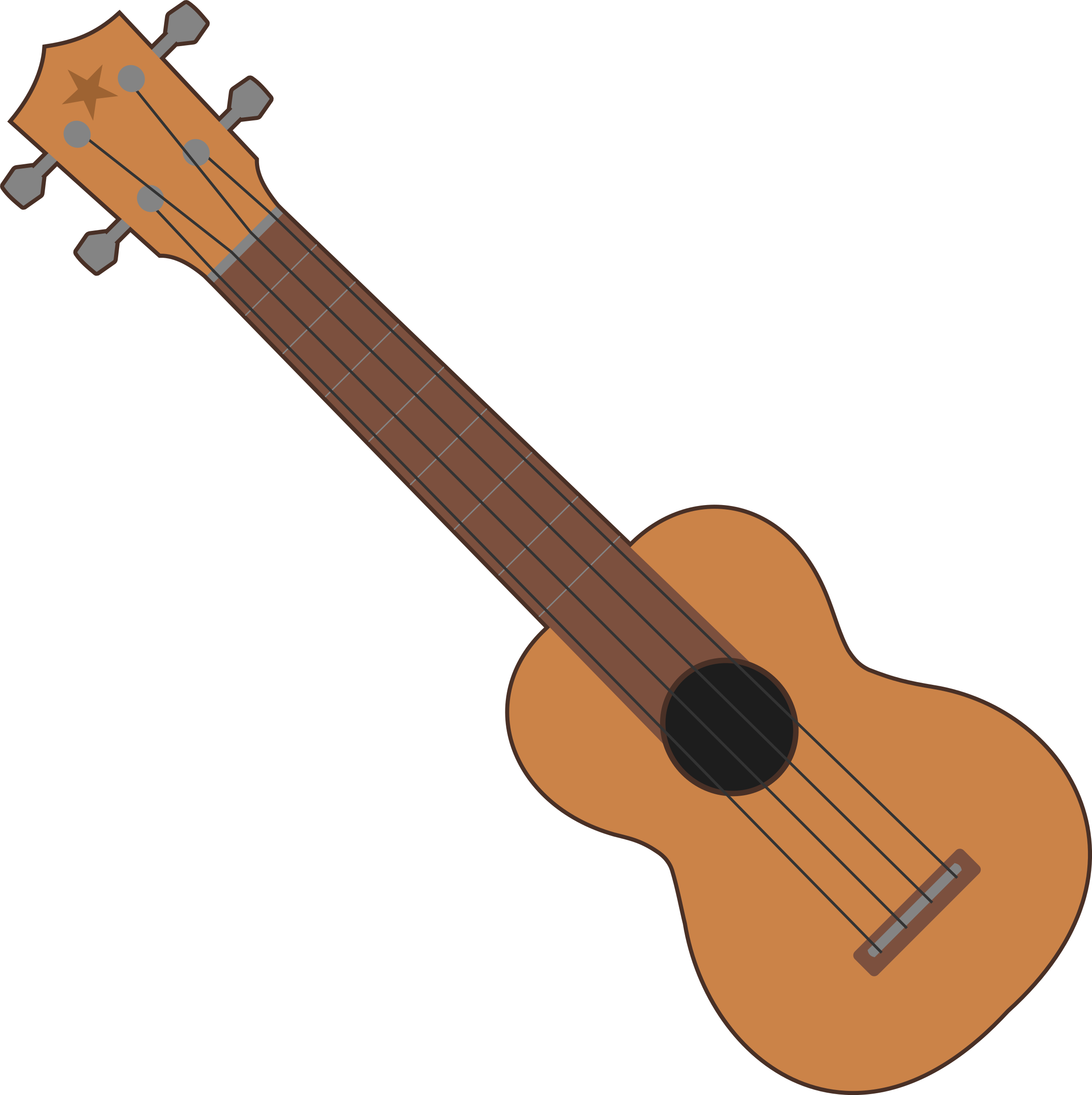Simple Ukulele Outline by qubodup