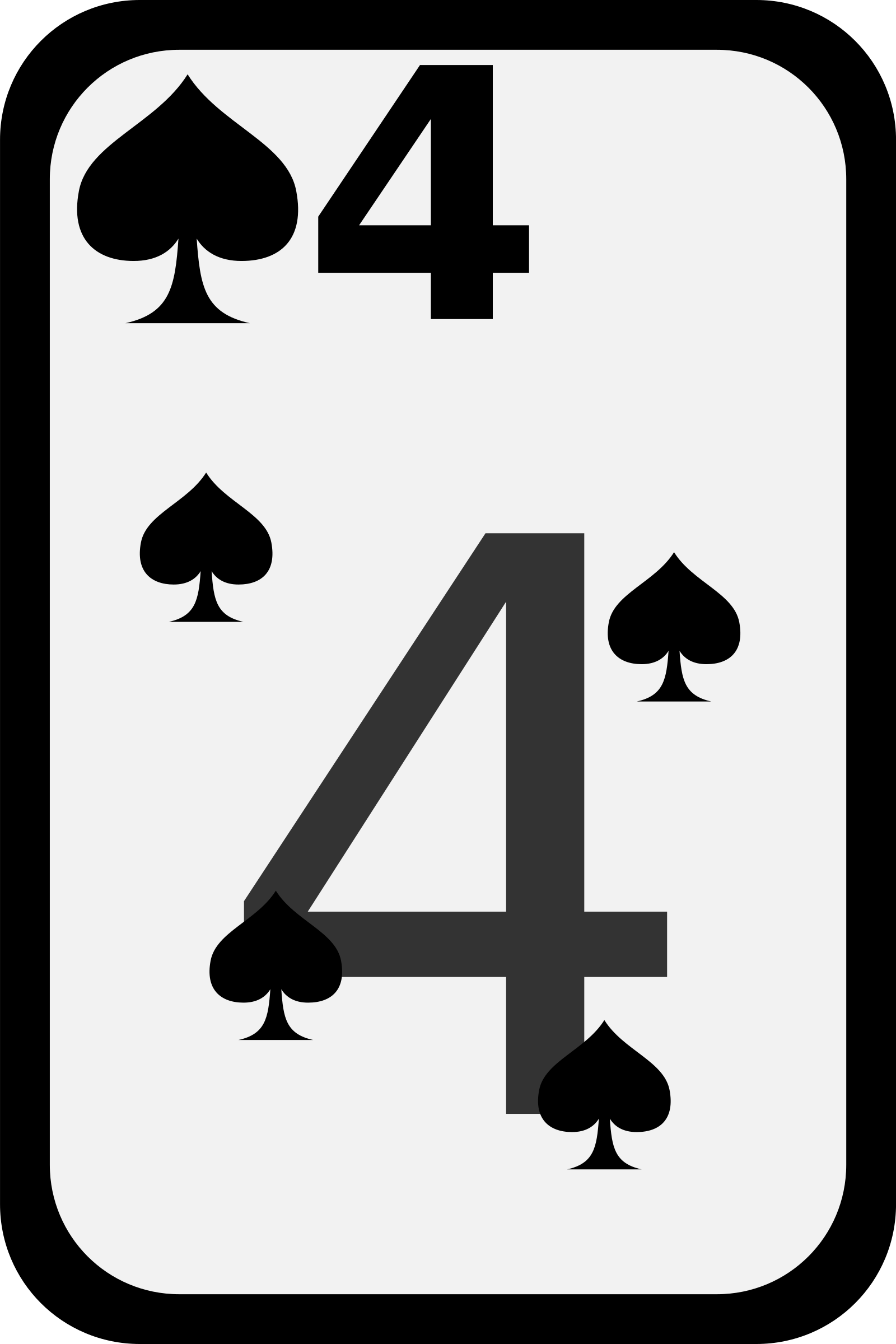 Four of Spades by momoko