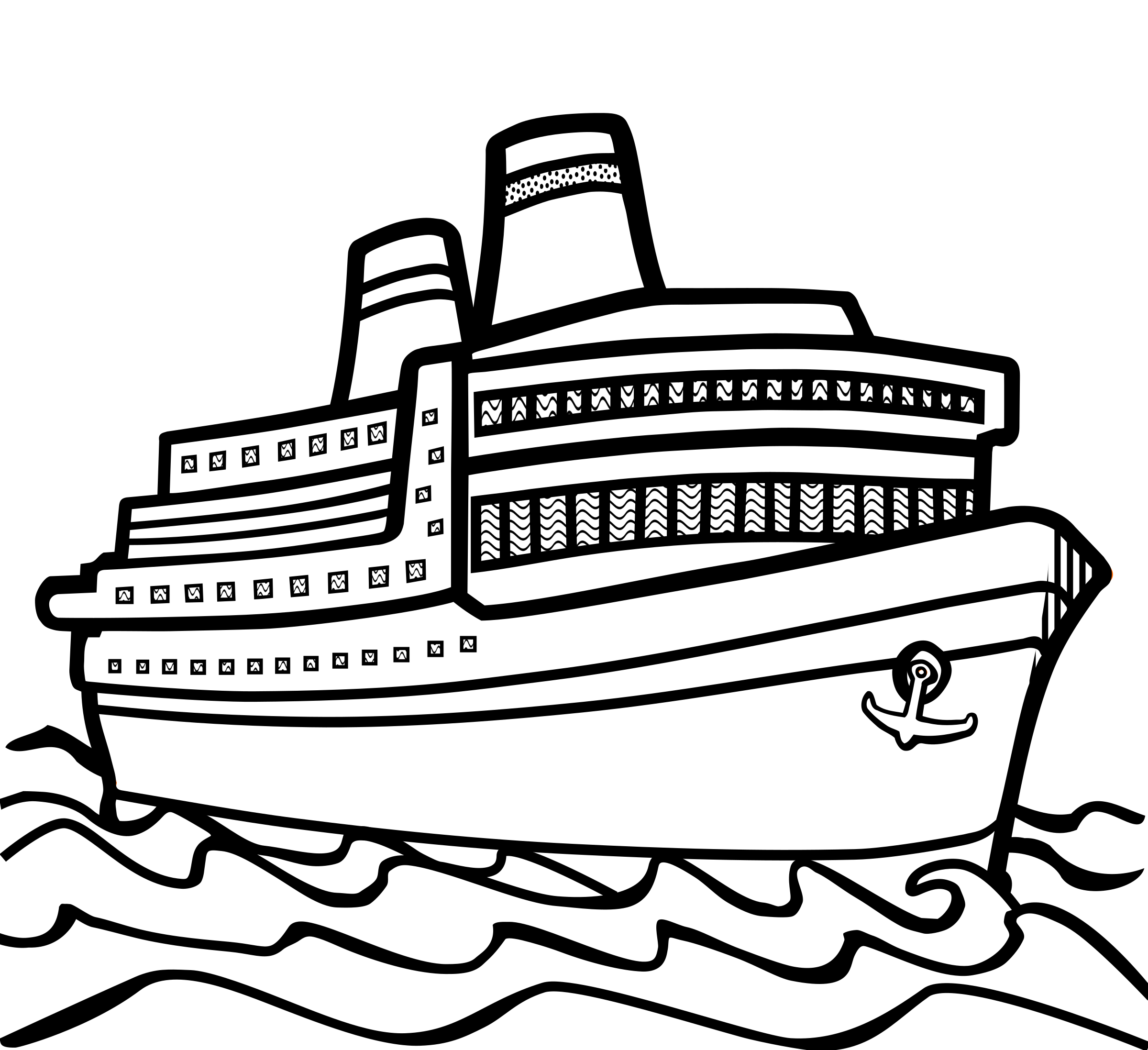 Line Drawing Ship : Clipart ship lineart