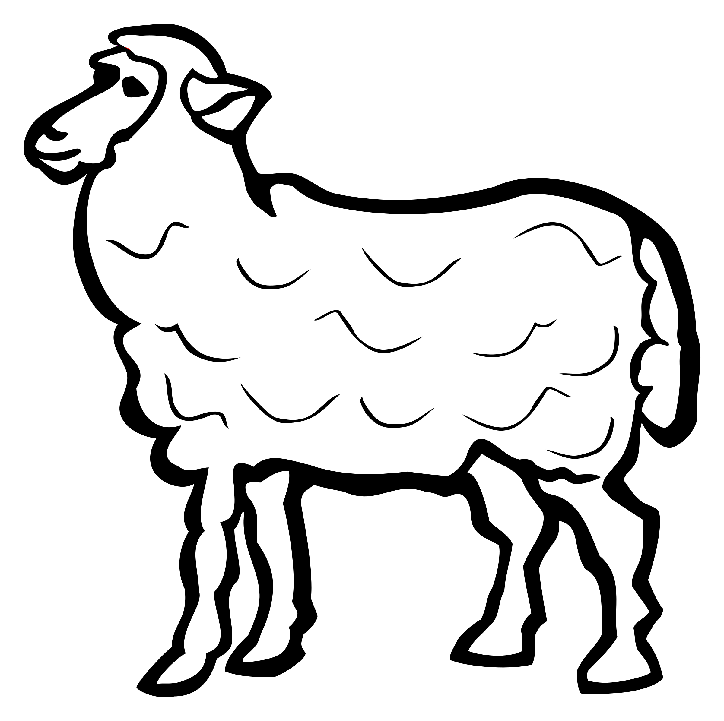 sheep - lineart by frankes