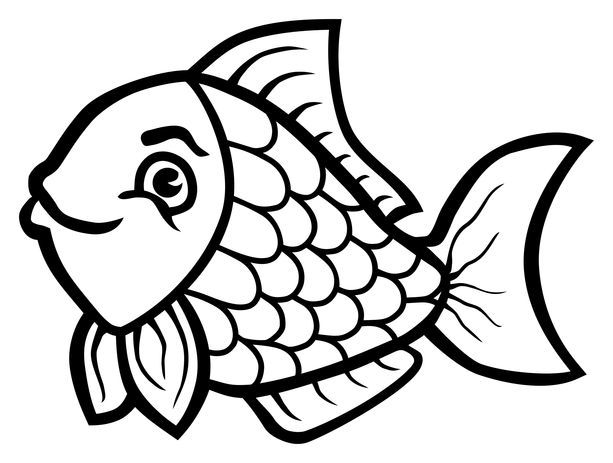 Line Drawing Of Fish : Clipart fish lineart