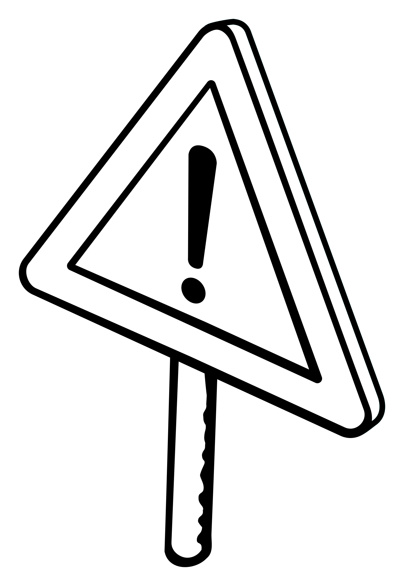 traffic sign - lineart by frankes