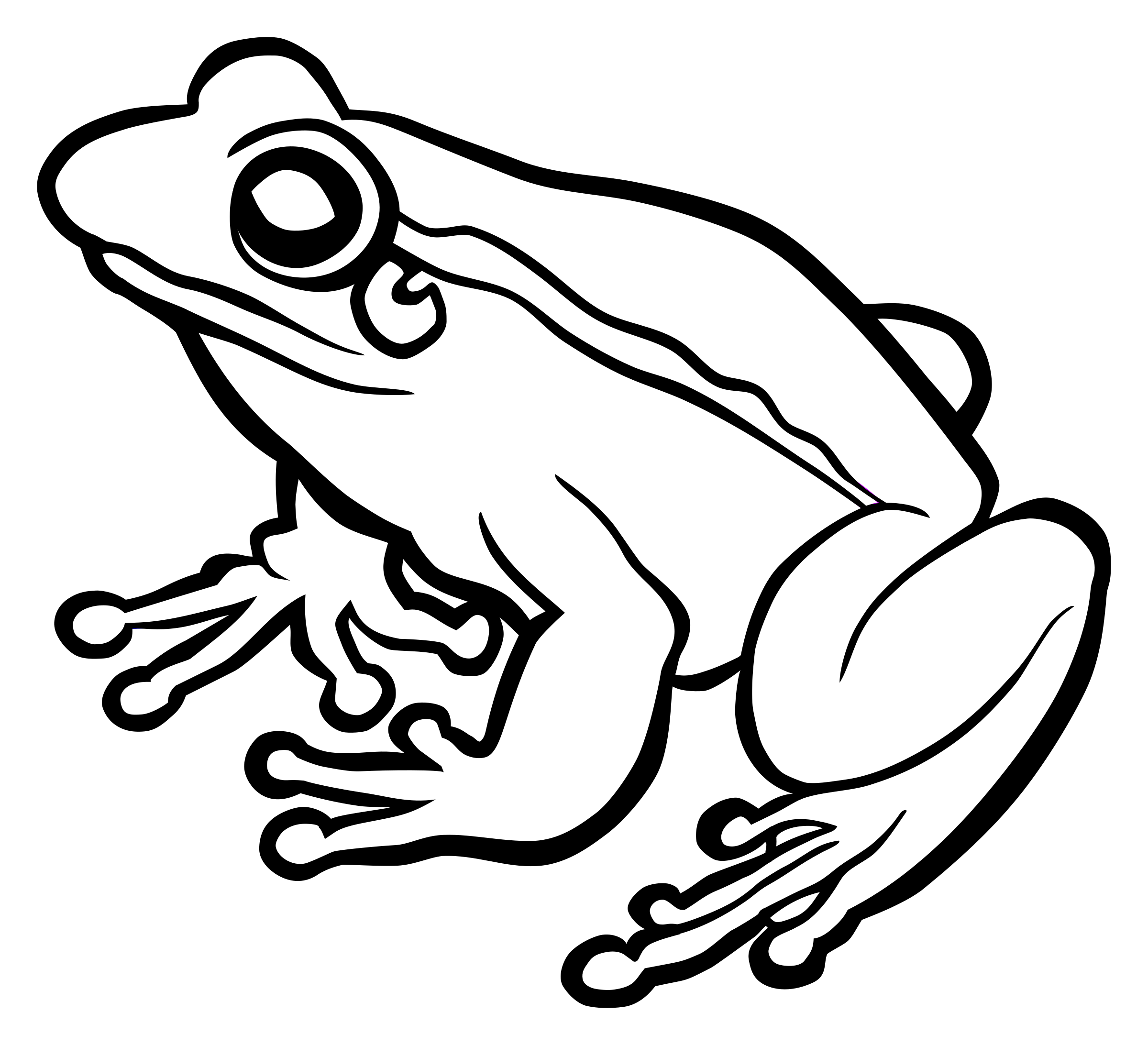 clipart frog lineart