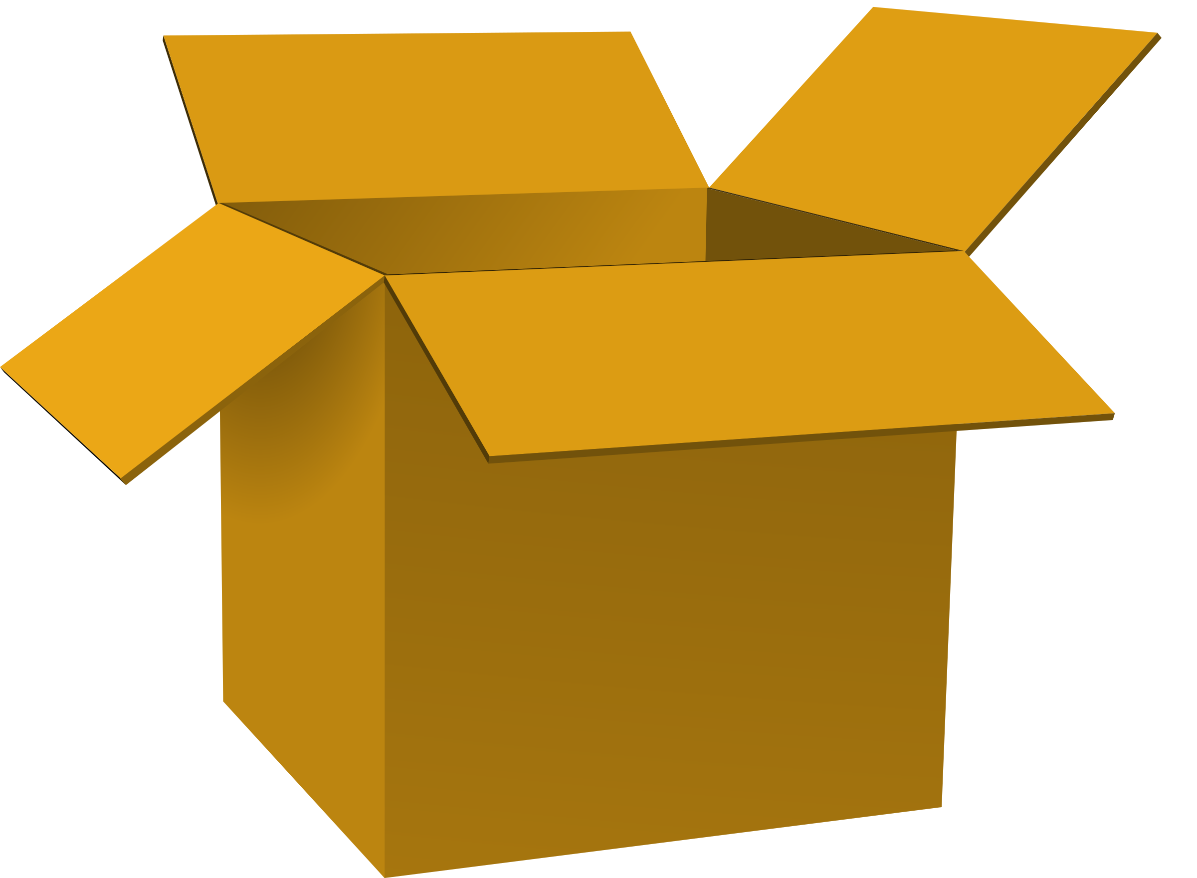 Clipart - box opened